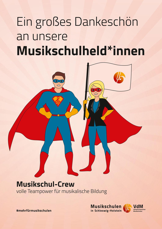 """Mit """"Wonder Lehrkraft"""" und der """"Musikschul-Crew"""" durch die Krise"""