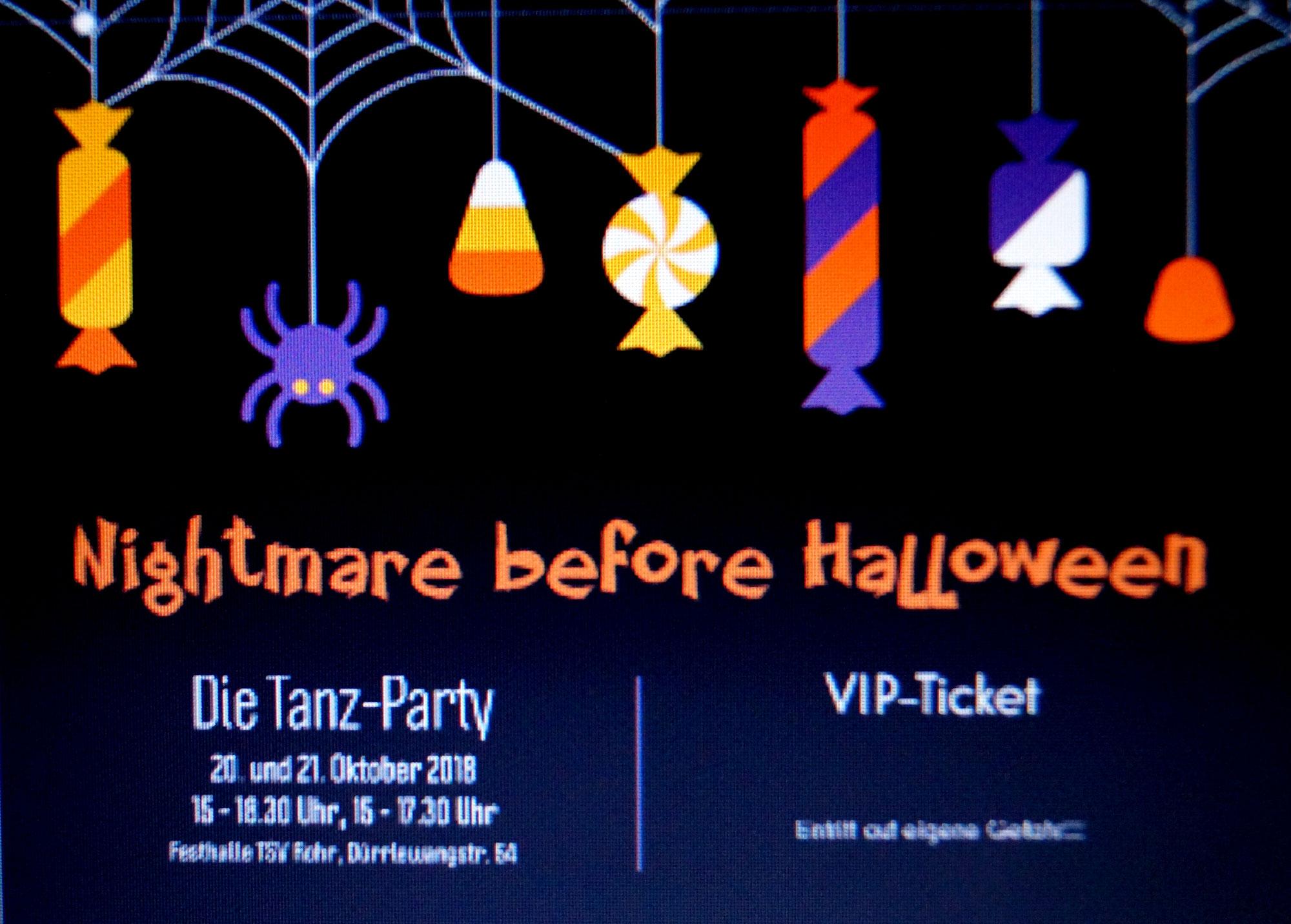 Halloweenparty 2018 - Nightmare before Halloween