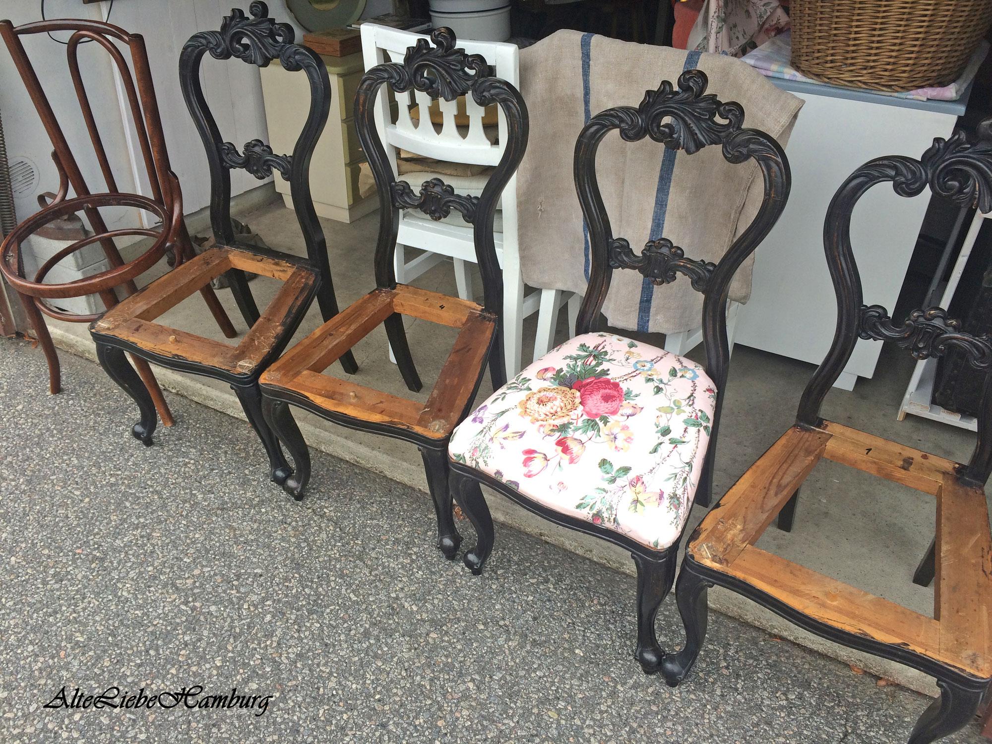Vorher … nachher – Alte Stühle aufgearbeitet
