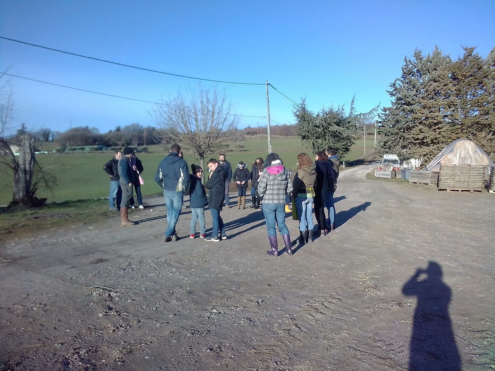 Visite de la ferme des Charentais à Pierrerue