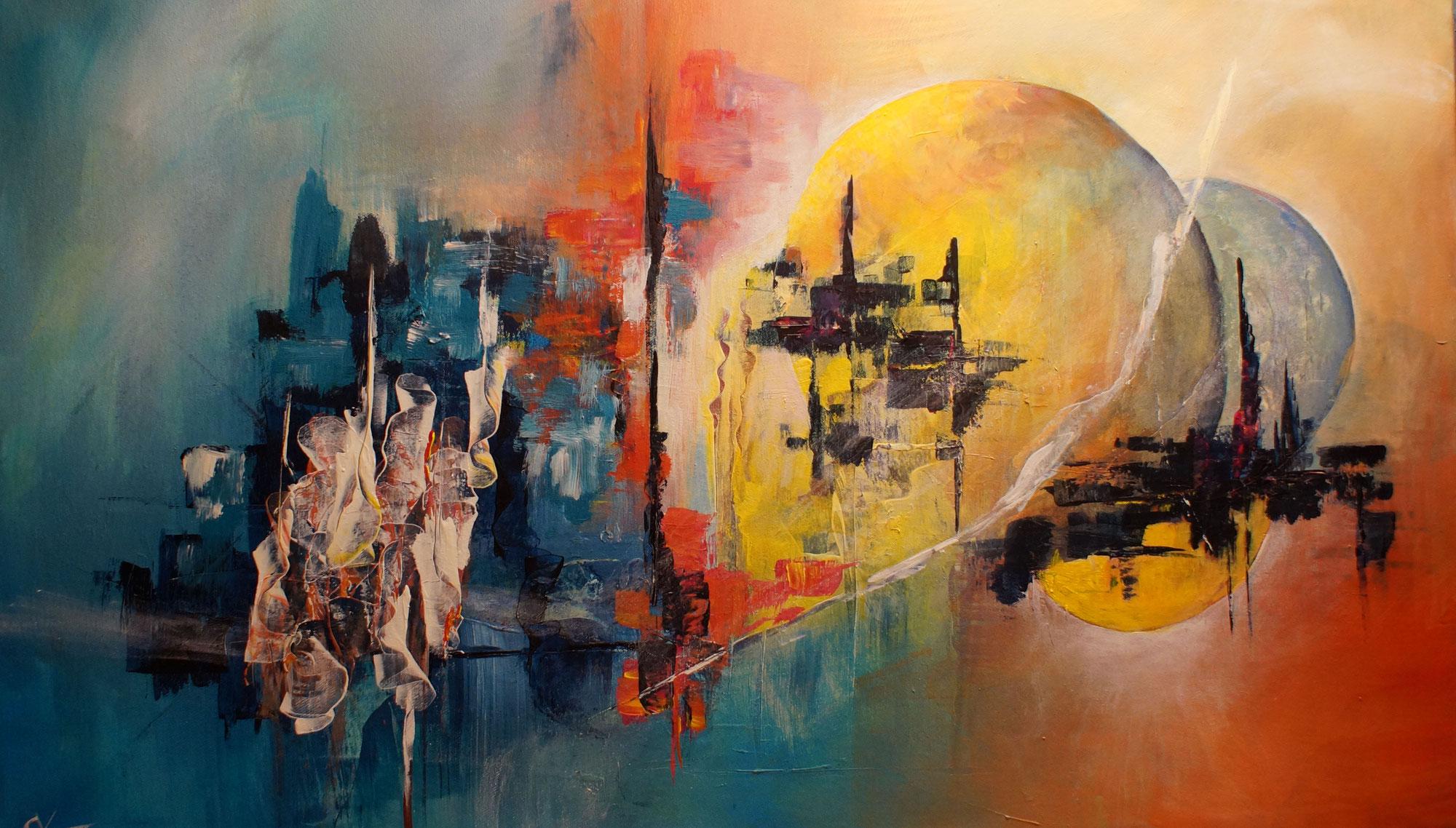 Abstraktes Bild auf Leinwand