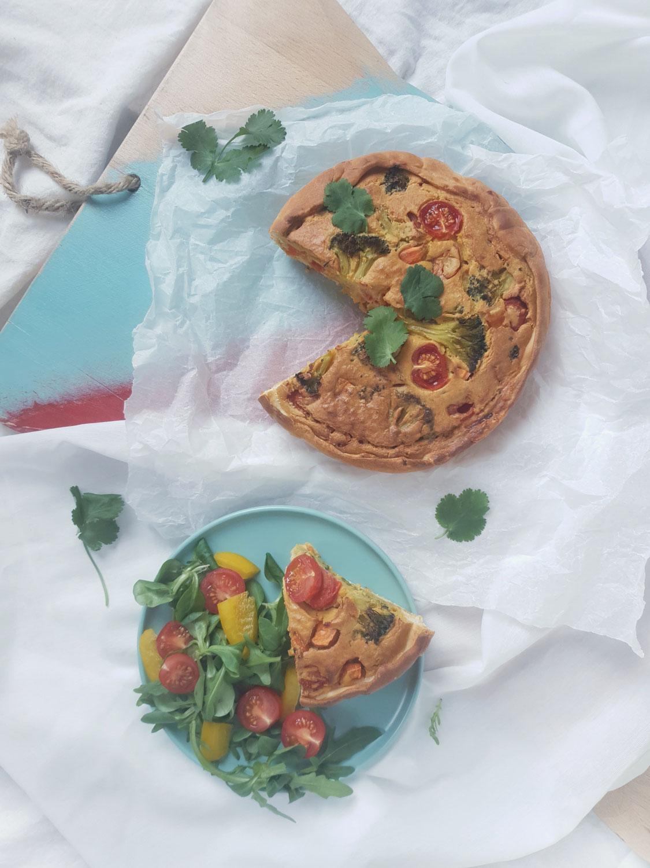 Vegan quiche met kala namak