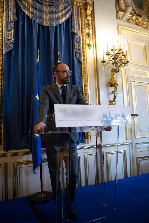 Quai D'Orsay - Prise de vue avec le 1er Ministre Edouard Philippe