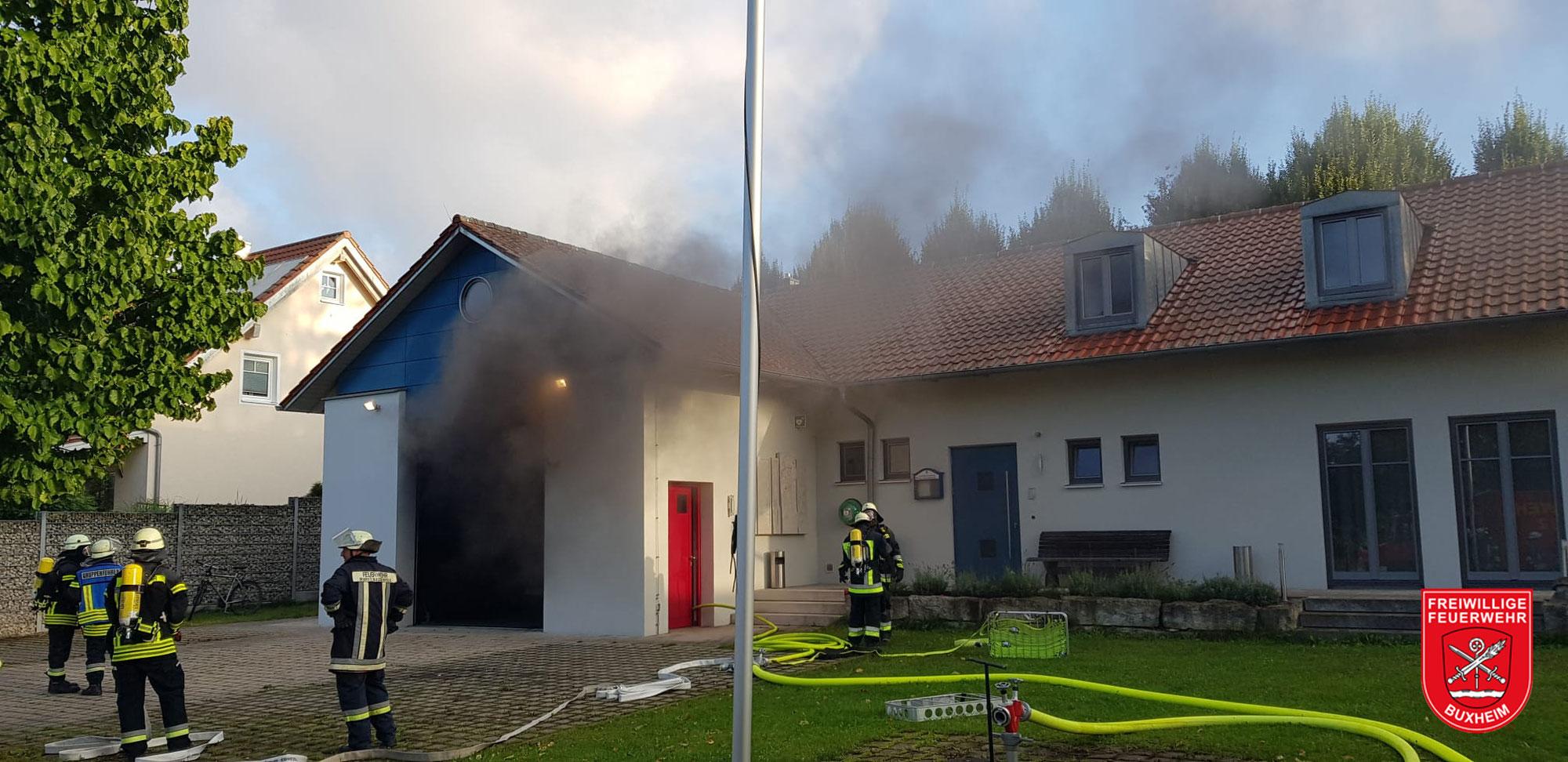 Brand Feuerwehrhaus Wolkertshofen