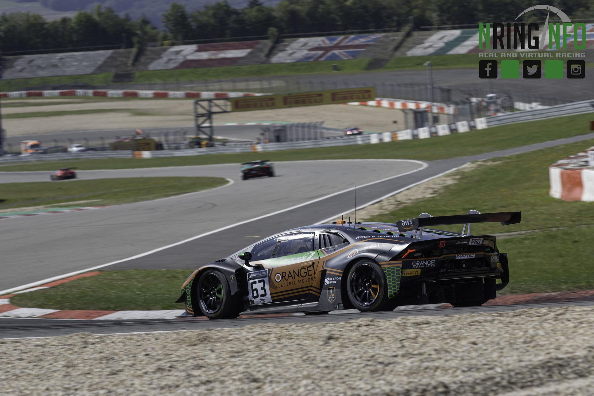 Orange1 FFF Racing holt mit dem Lamborghini #63 die dritte Gesamtpole aus vier Rennen