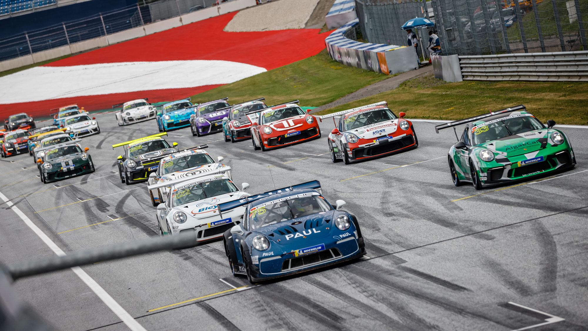 Porsche Sports Cup begeisterte mit spannenden Rennen am Red Bull Ring