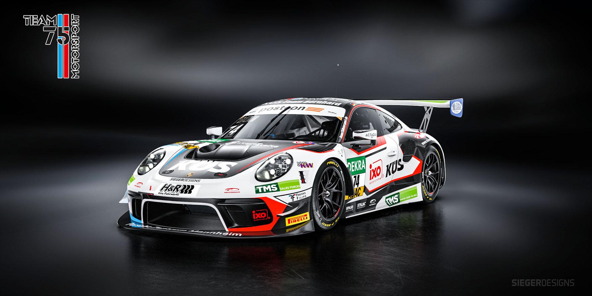 Porsche-Spezialisten im zweiten 911 GT3 R des Küs Team Bernhard