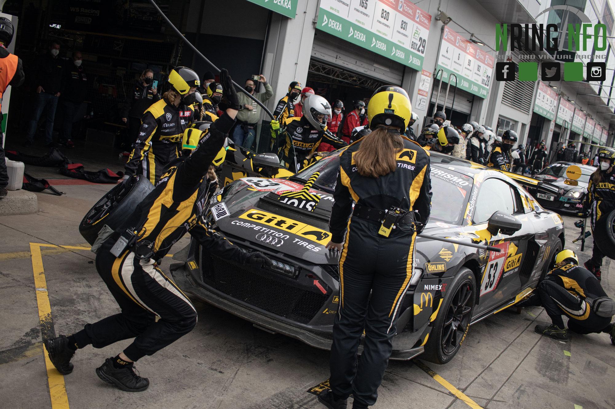 """Grandioser Klassensieg für """"Girls Only"""", aber auch bittere Momente für Giti Tire Motorsport by WS Racing beim 24h-Rennen auf dem Nürbur"""