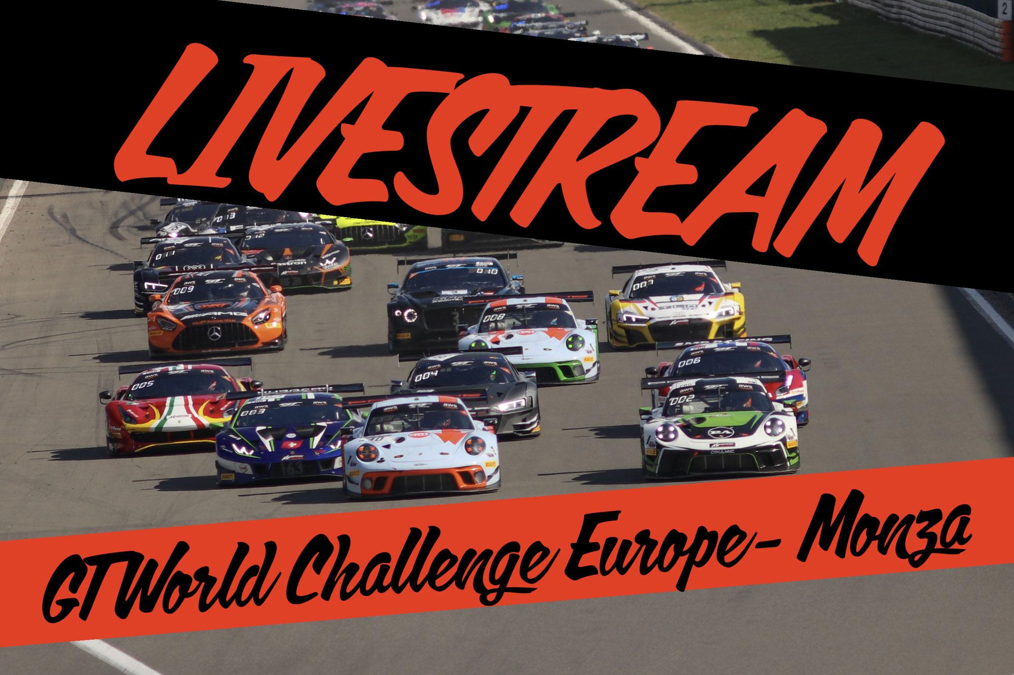 Livestream GT World Challenge Europe - Monza
