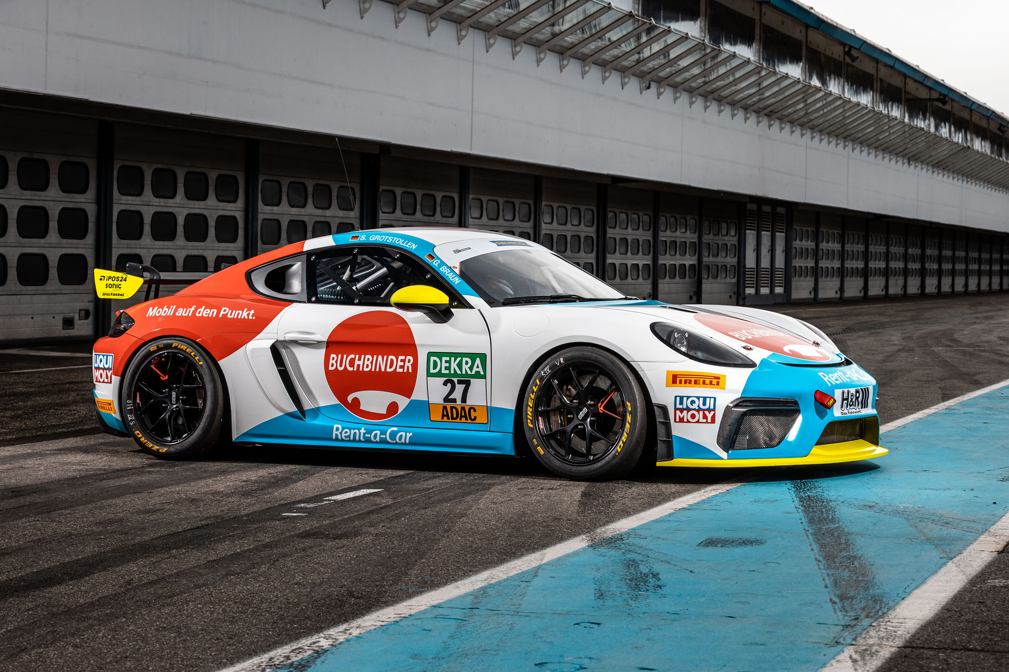 Team Buchbinder Rent-a-Car startet mit Porsche 718 Cayman in der ADAC GT4 Germany