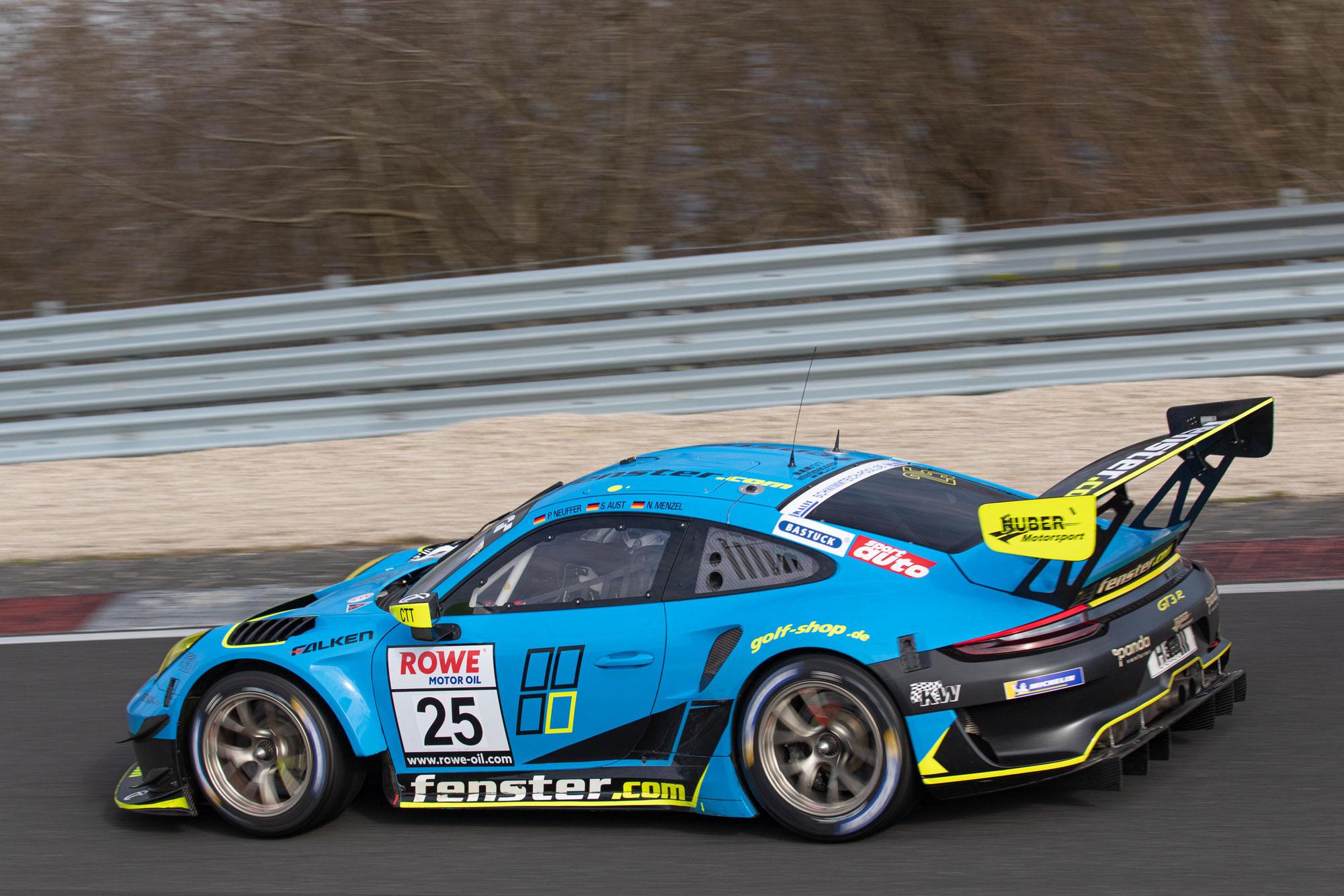 Huber Motorsport gewinnt die SP7 Klasse bei NLS3 und holt sich den dritten Platz in der SP9 Pro-Am