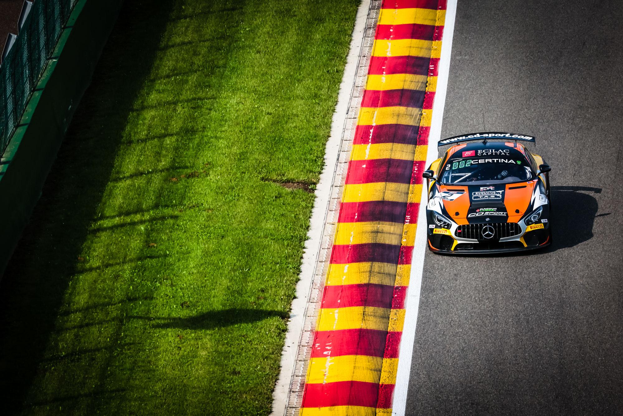 Chevalier bringt CD Sport Mercedes-AMG im zweiten Spa-Training an die Spitze