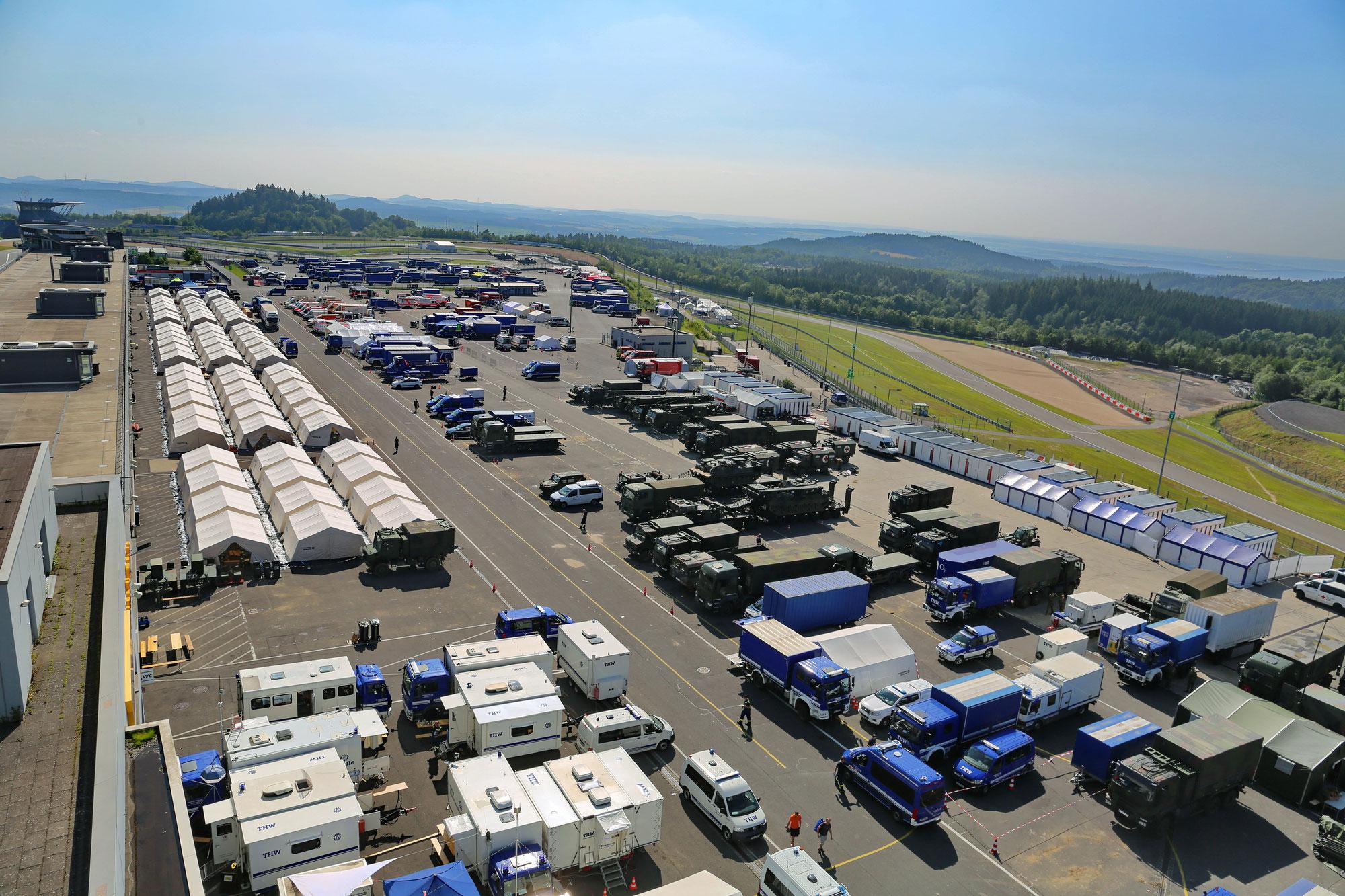 Nürburgring derzeit Basis für Einsatzkräfte: Wochenend-Veranstaltungen bis 8. August abgesagt