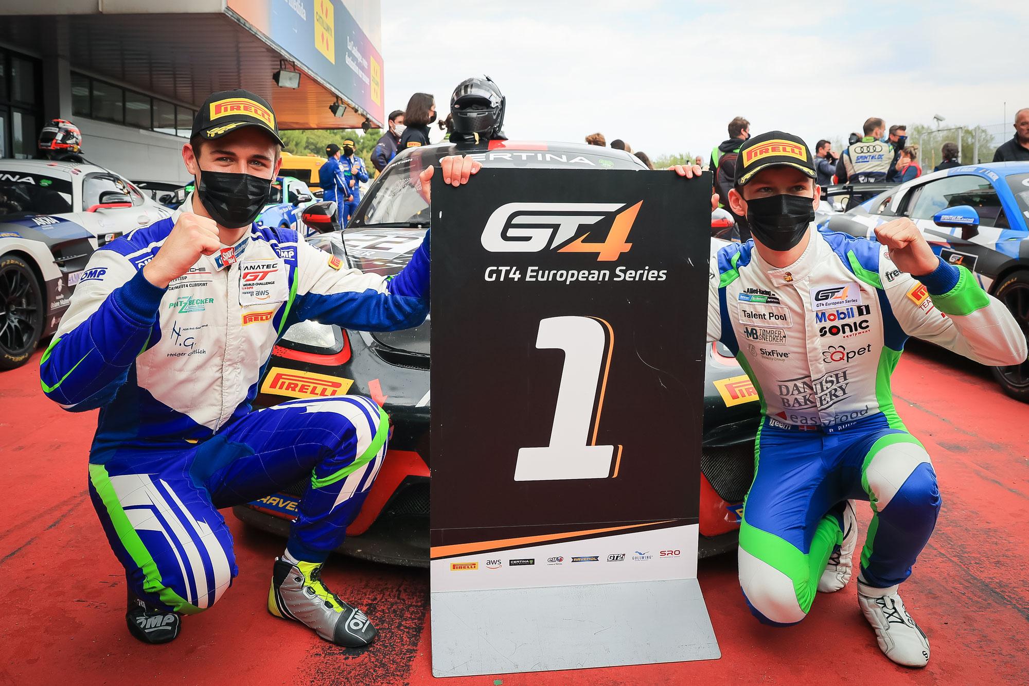 NRingInfo Supporter Joel Sturm und Bastian Buus gewinnen den zweiten Lauf der GT4 European Series in Barcelona