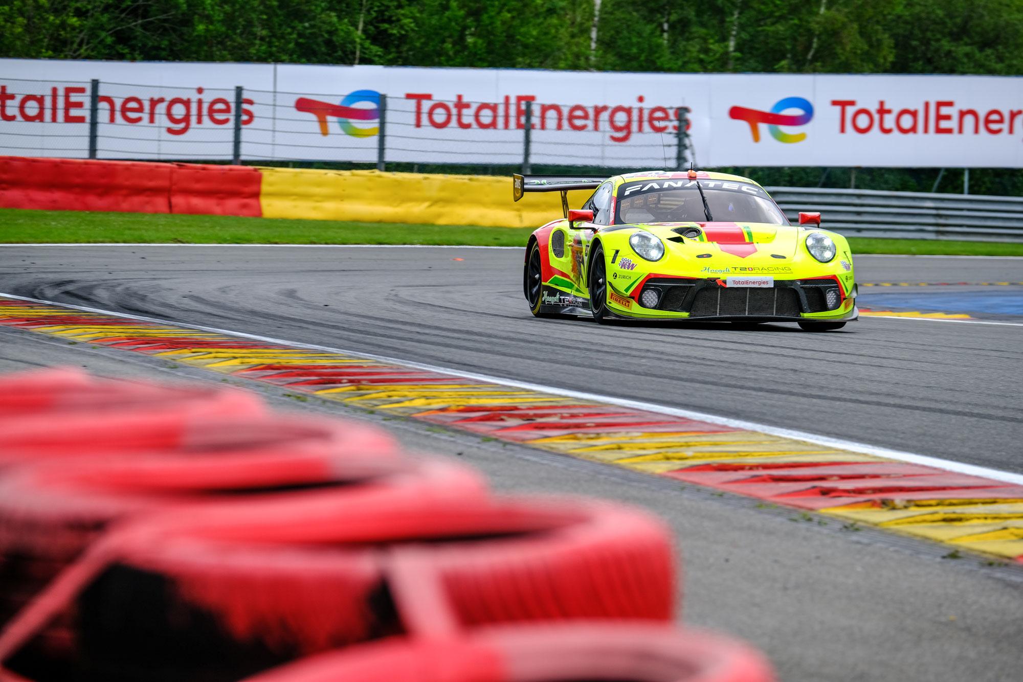 Hägeli by T2 Racing Porsche an der Spitze beim Bronze-Test zum Start der TotalEnergies 24 Stunden von Spa 2021