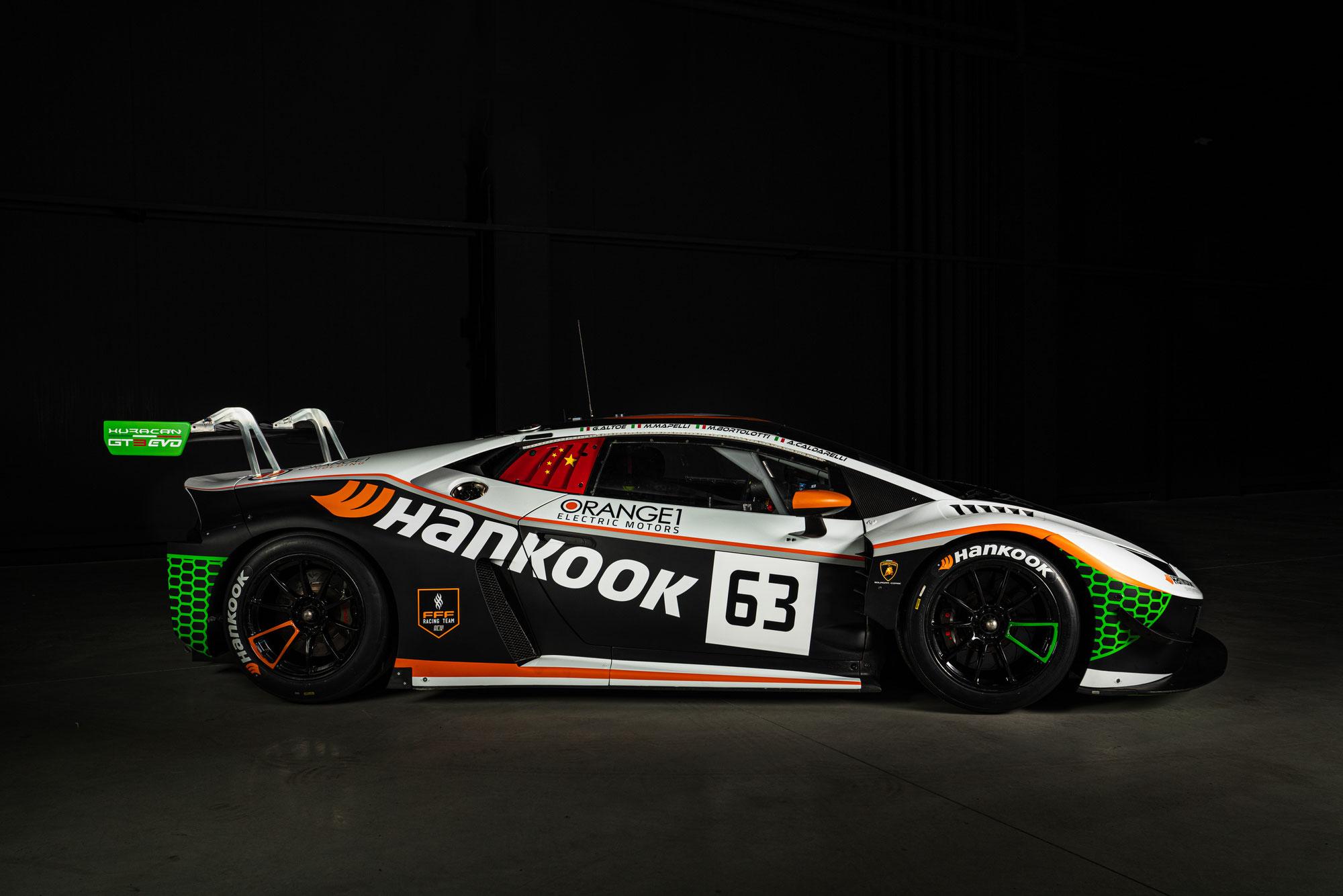 Italienisches Fahrer-Quartett startet für das neue Hankook FFF Racing Team beim 49. ADAC TOTAL 24h-Rennen