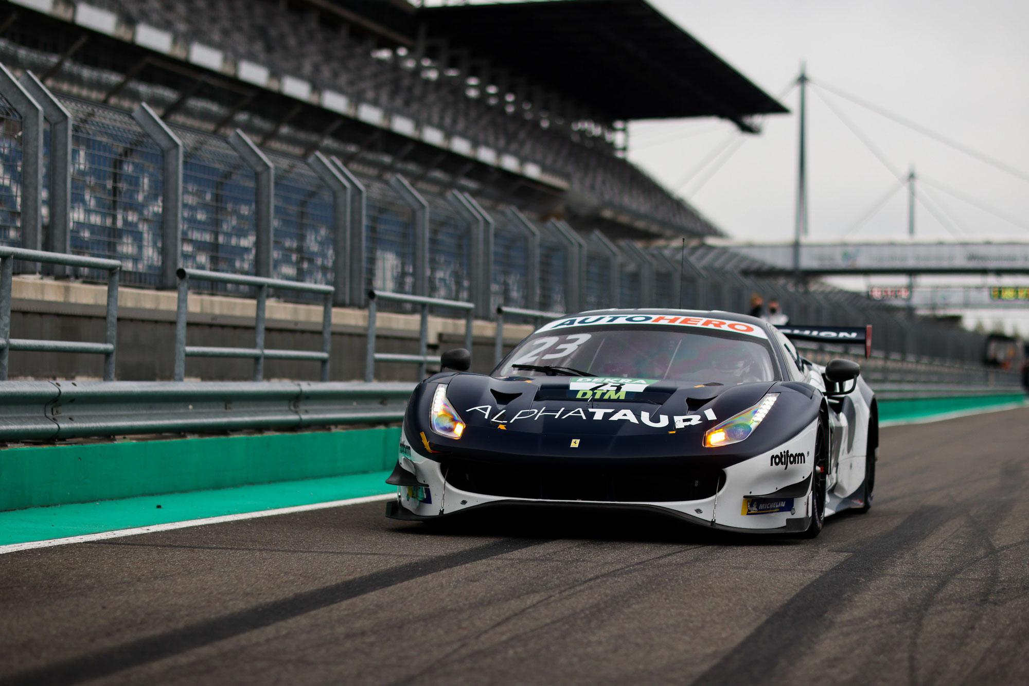 DTM-Test in der Lausitz: Alexander Albon im Ferrari Schnellster am Mittwochvormittag