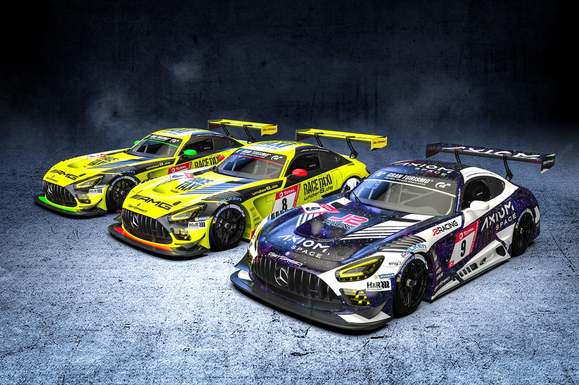 GetSpeed mit drei Mercedes-AMG GT3 beim Qualifikationsrennen am Nürburgring