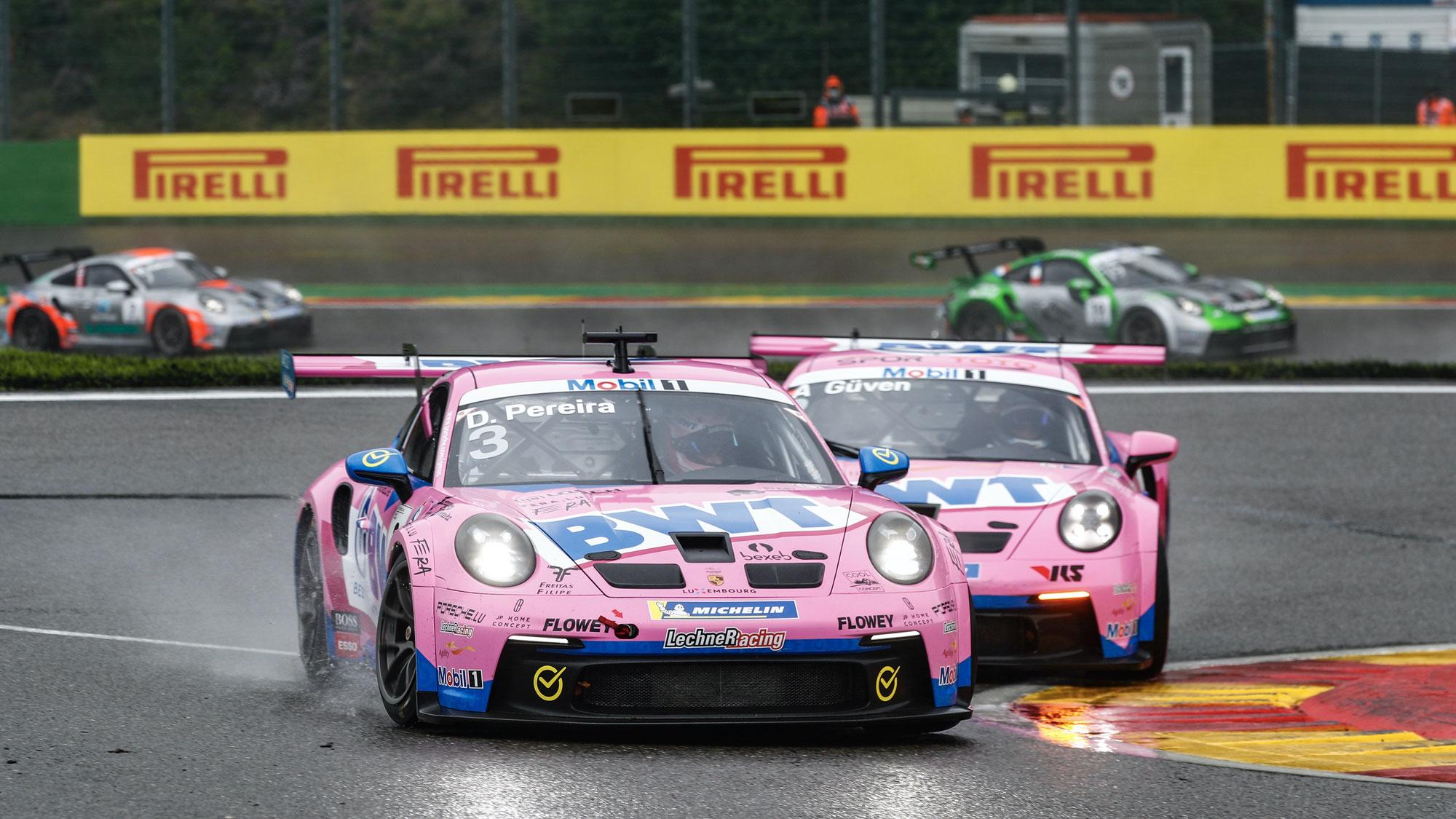 Dylan Pereira gewinnt Porsche Supercup Rennen Nummer 300