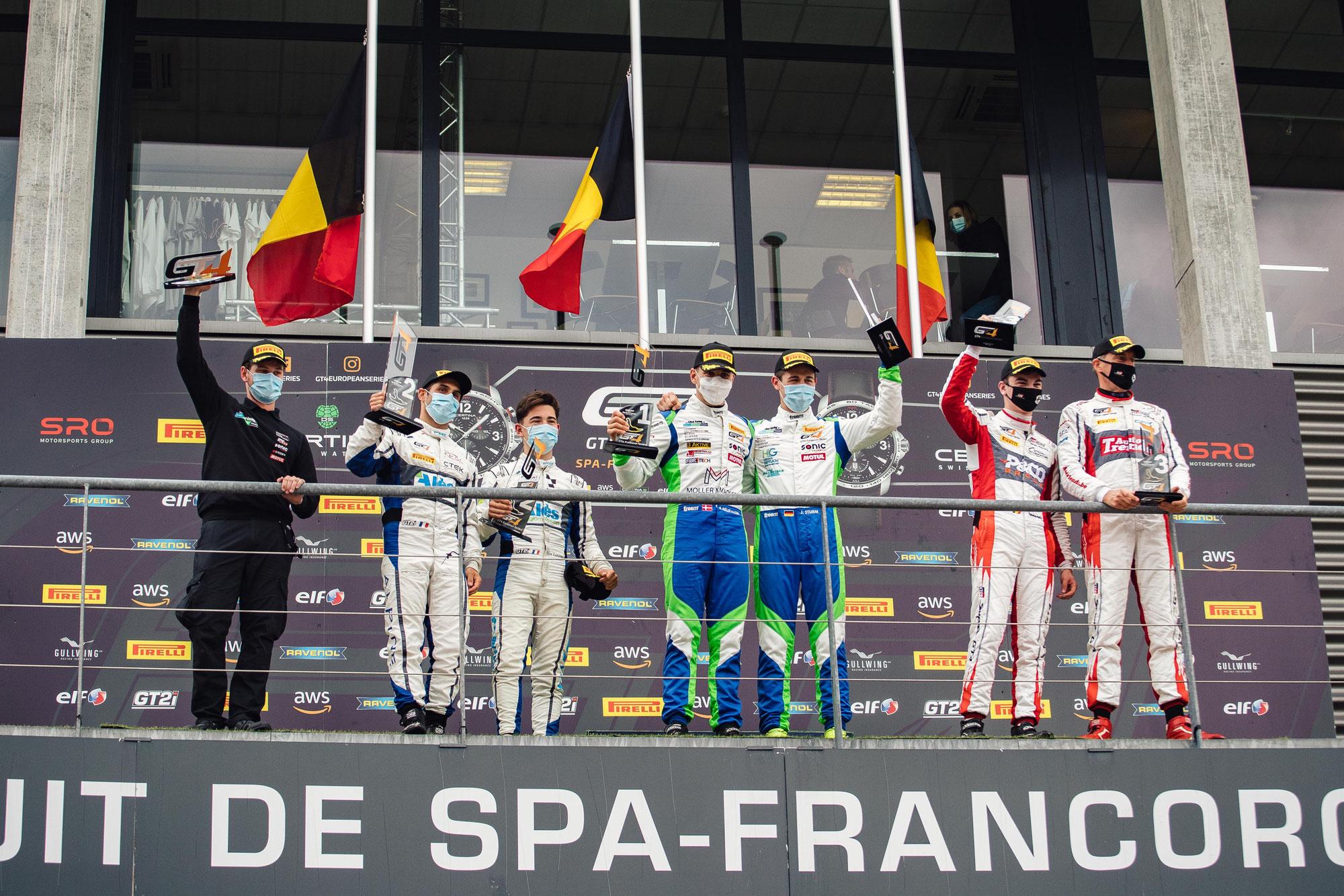 GT4 European Series, round 4: Joel Sturm siegt souverän in Spa-Francorchamps