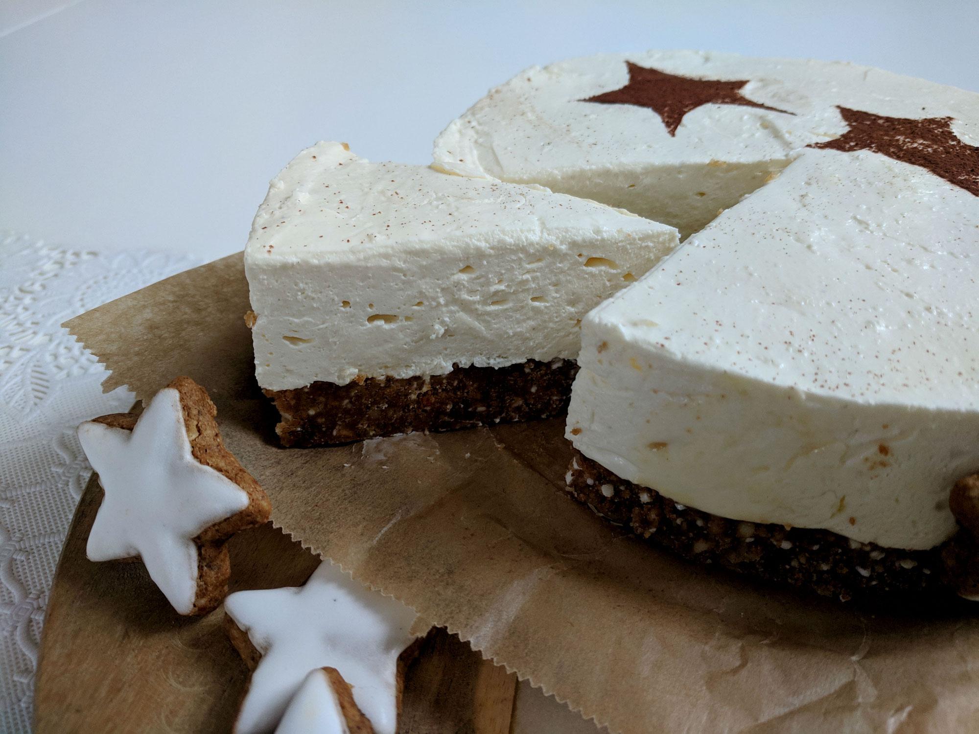 20. Türchen Zimtstern Cheesecake