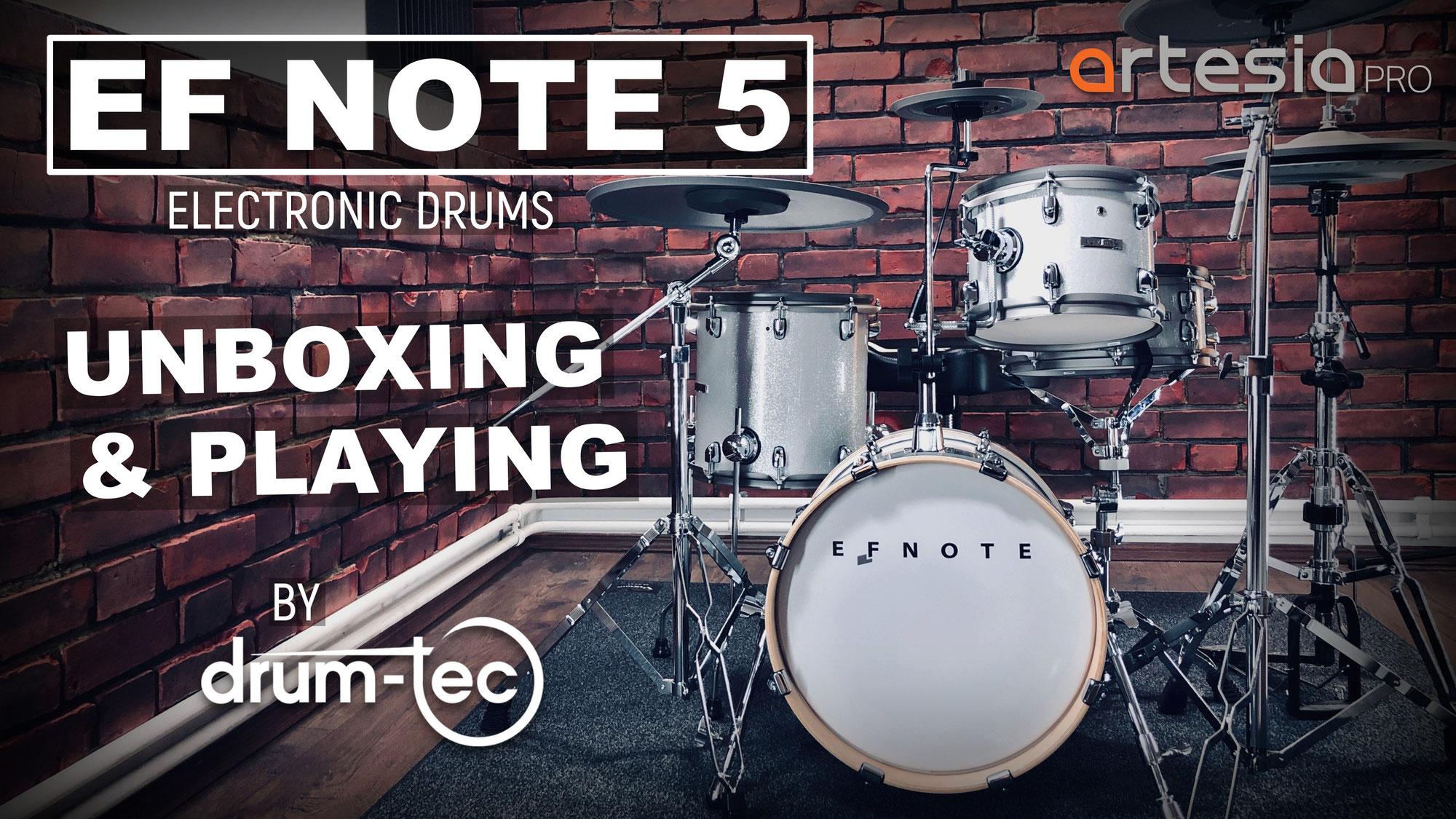 EFNOTE 5 electronic drums video demos
