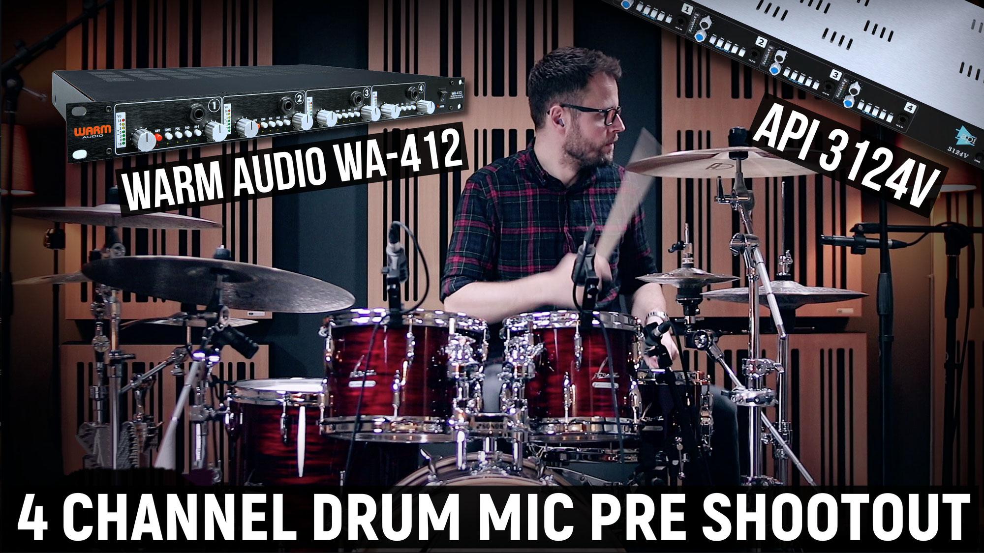 API 3124V vs WA-412 mic pre shootout video feature