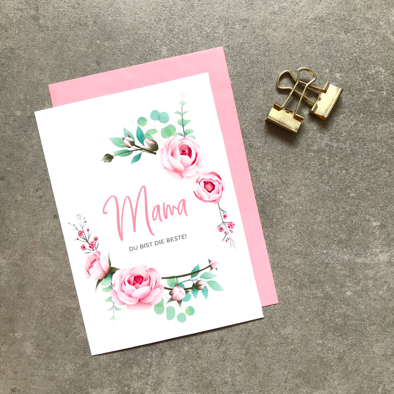 FREEBIE - Grußkarte Muttertag