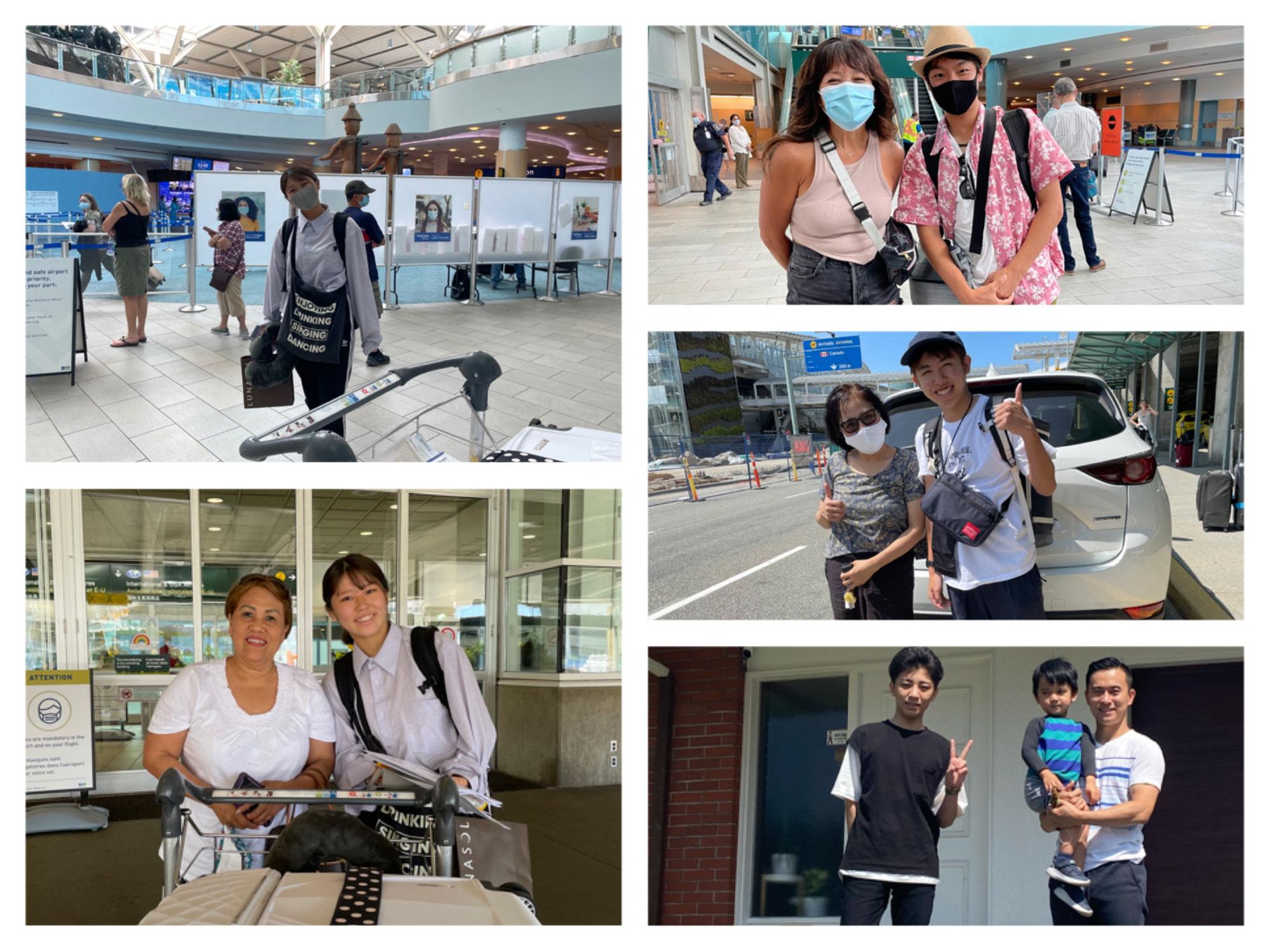 9月からカナダの高校に入学の新規生徒さんたち