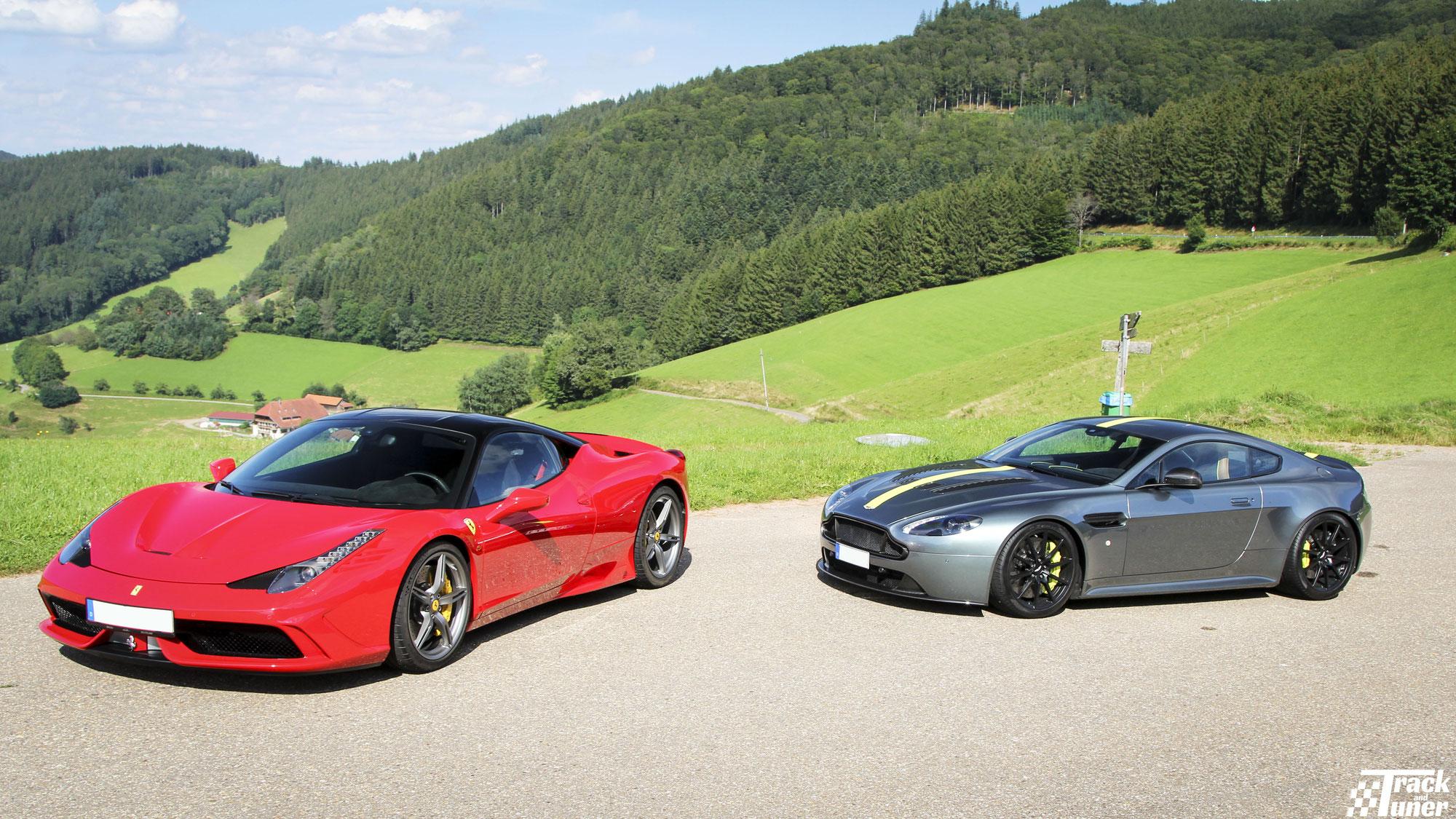 WeDRIVE: Magic in the mountains - Ferrari 458 speciale vs Aston Martin V12
