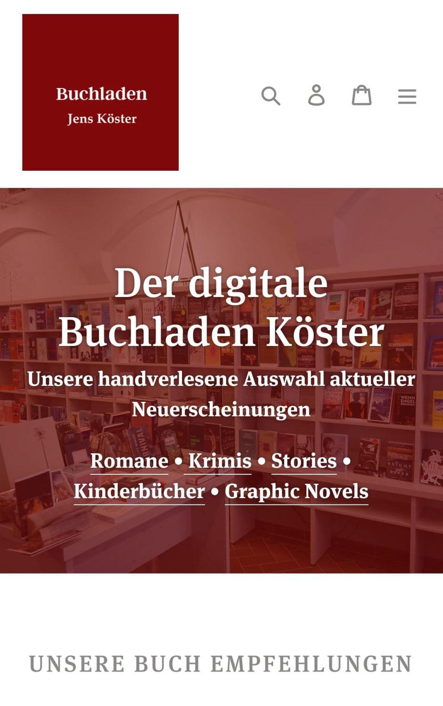 Der digitale Buchladen Köster