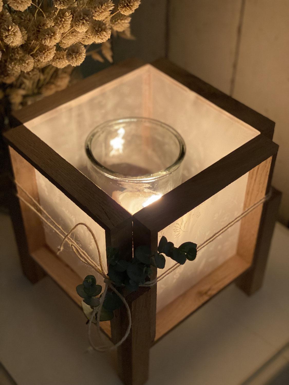 Klötzchen DIY Lampe mit Pergament