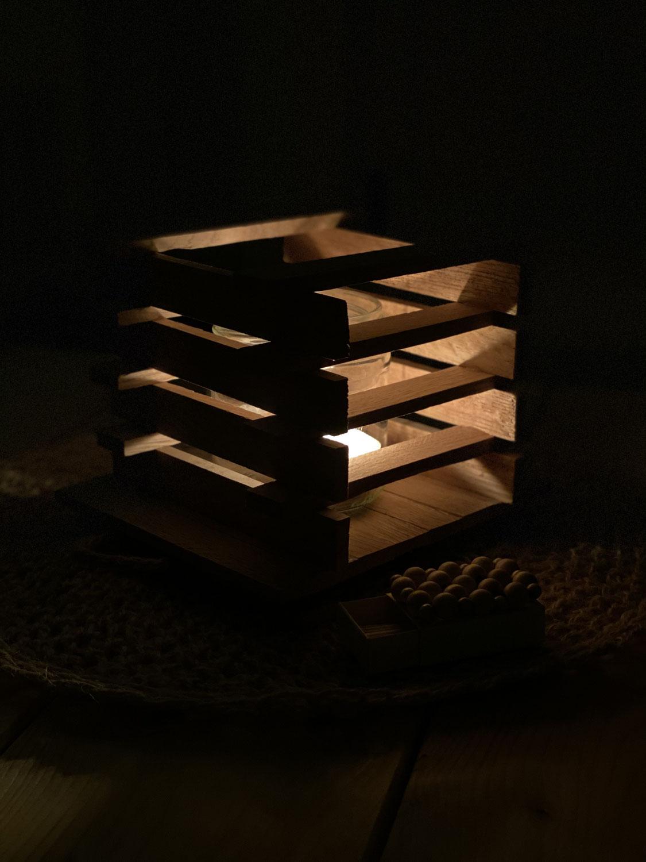 Klötzchen-Lampe
