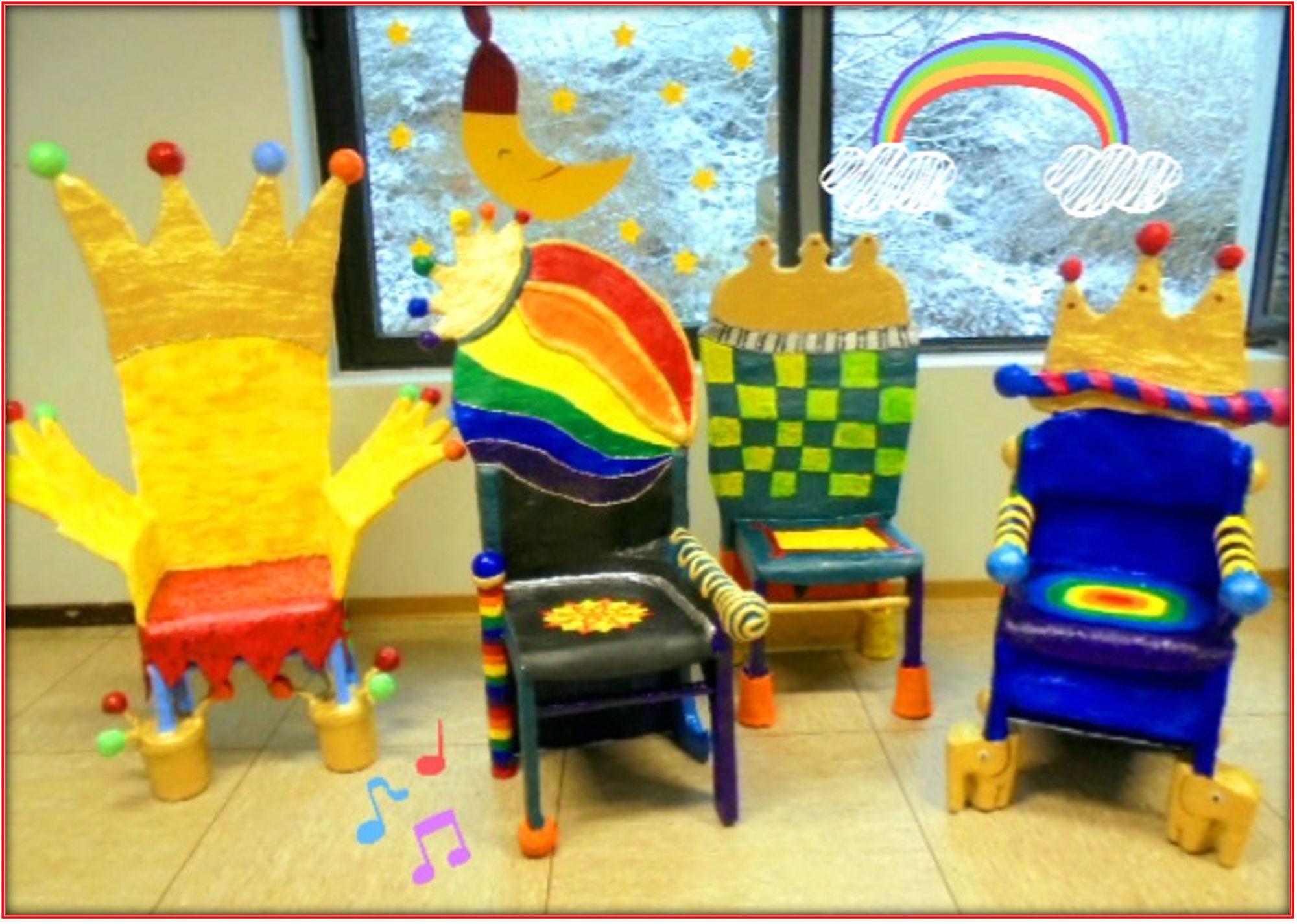 Geburtstagsstühle in der KiTa Regenbogen