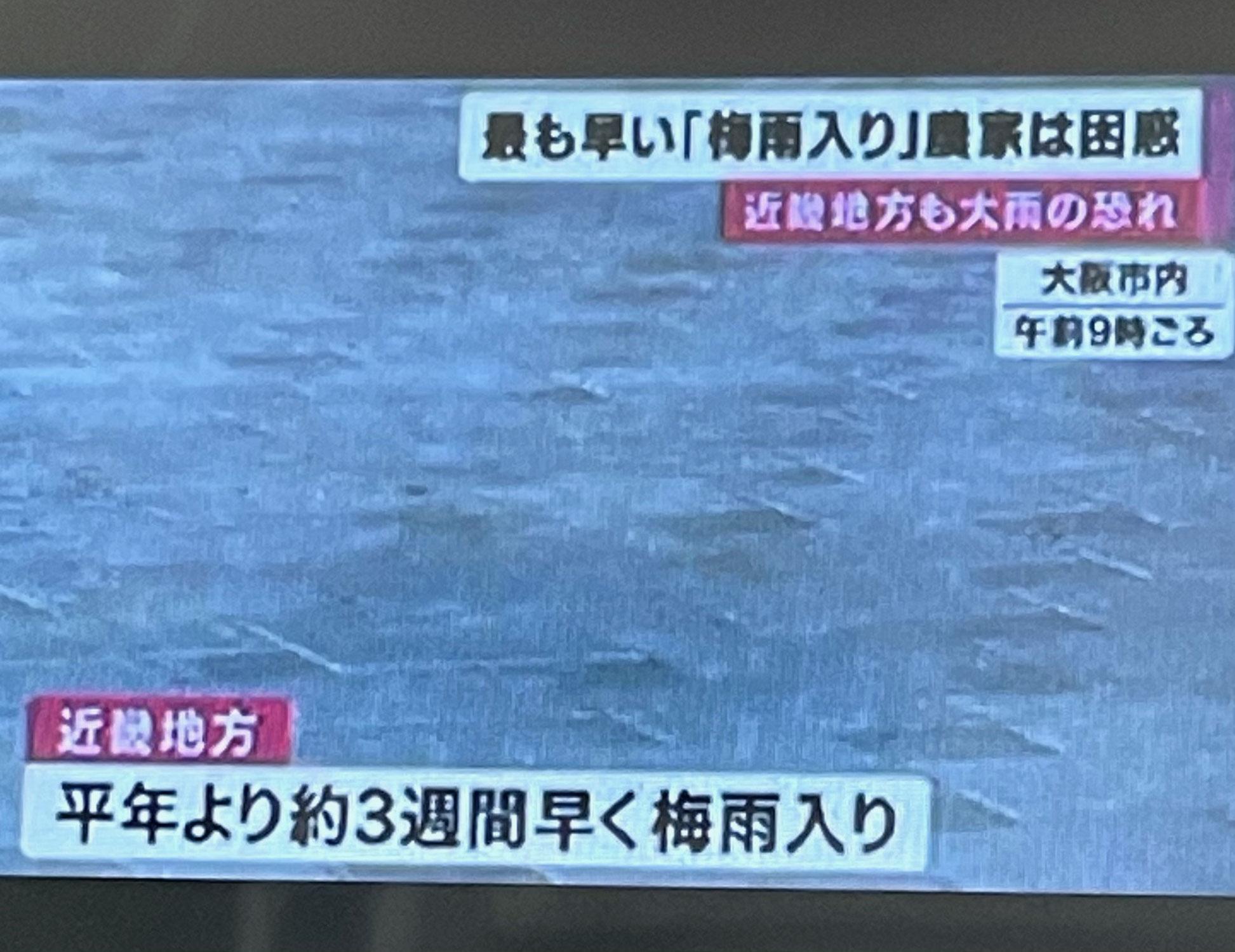 2021年梅雨入り(-_-;)