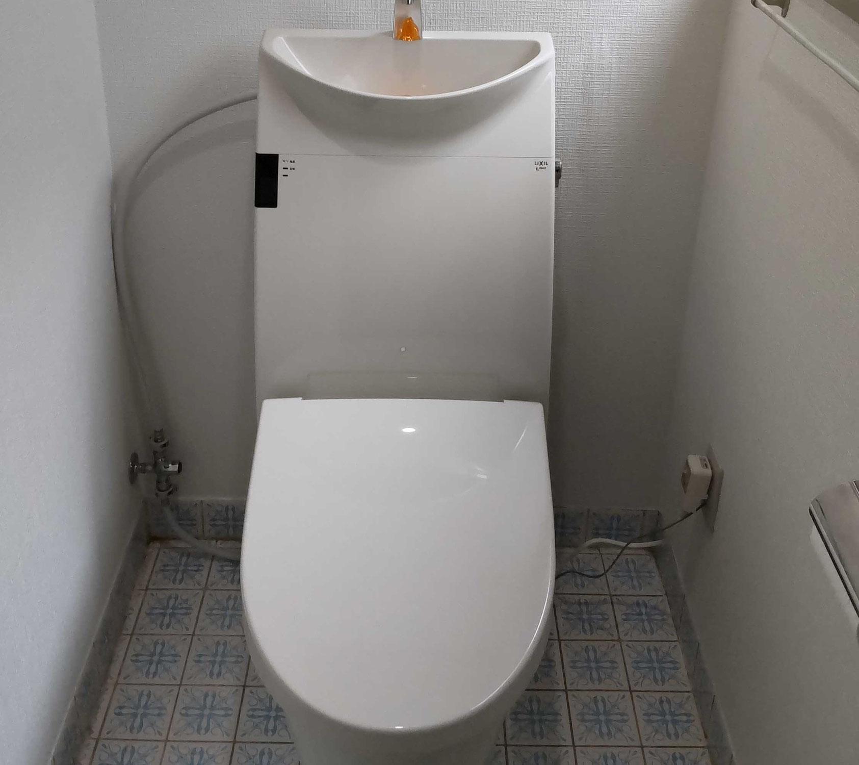 タンク付きなのにコンパクトなトイレ