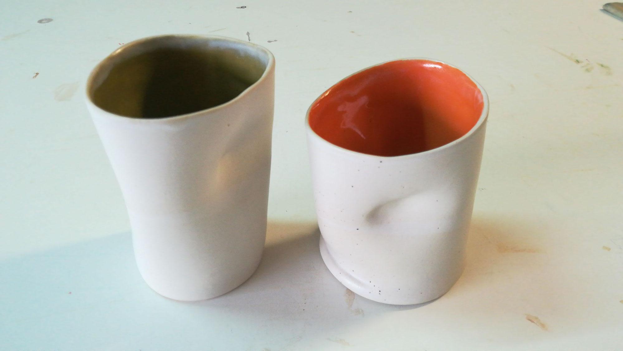 Cursos ceràmica adults 2020/21 Algunes peces acabades