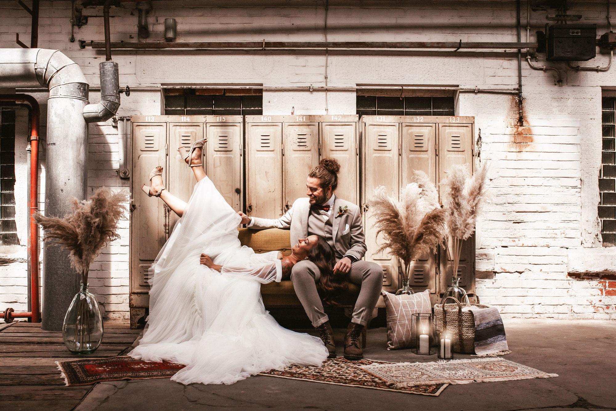 Styled Shoot: Ruby Dust Industrial Wedding