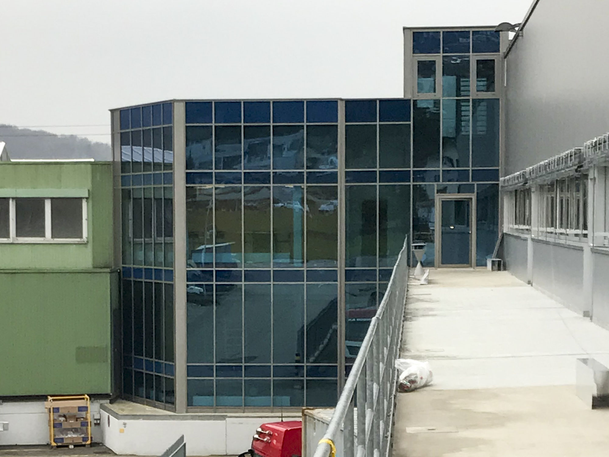 Glasfassade Jansen Viss