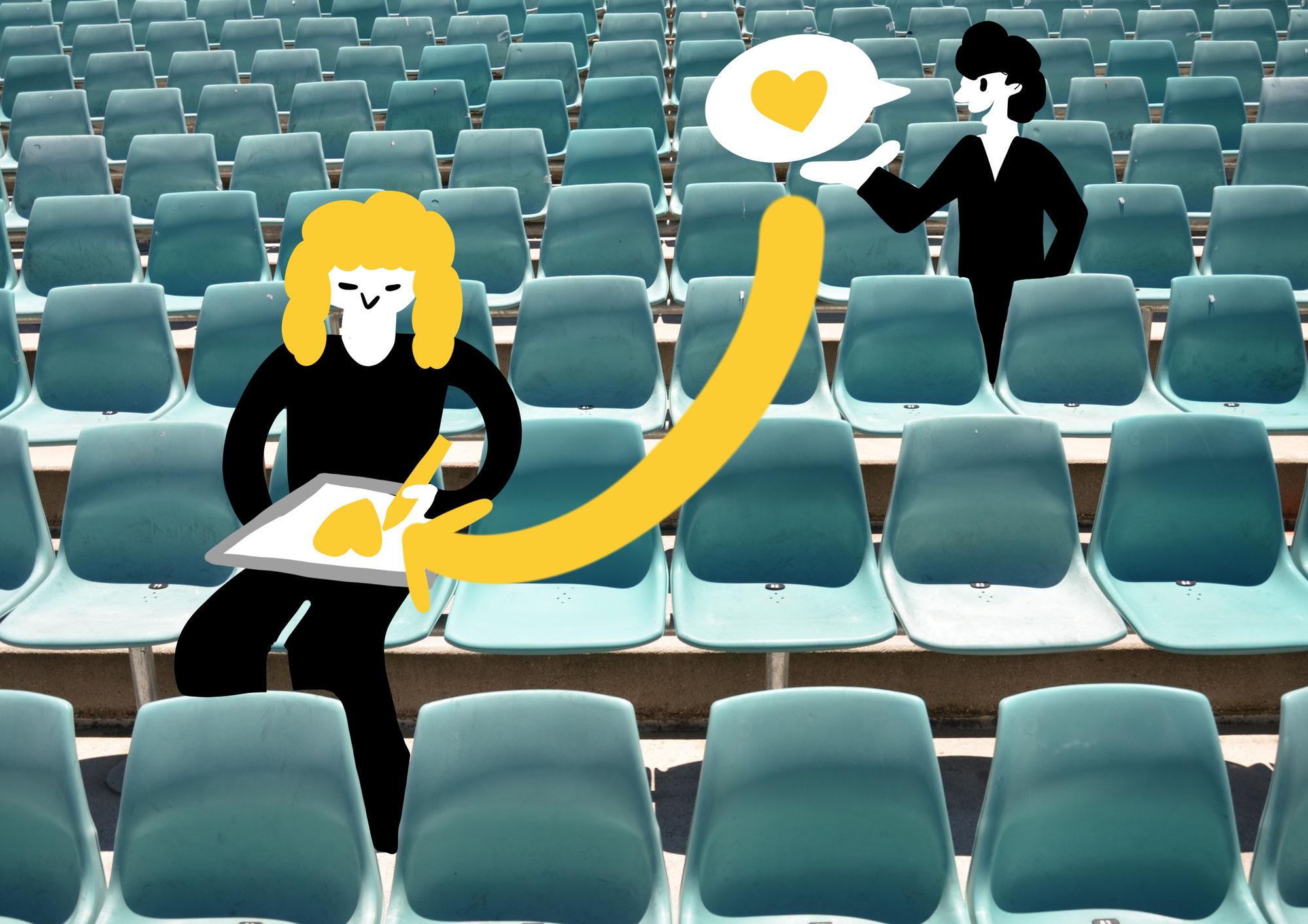 Live-Visualisierung während Online Konferenzen
