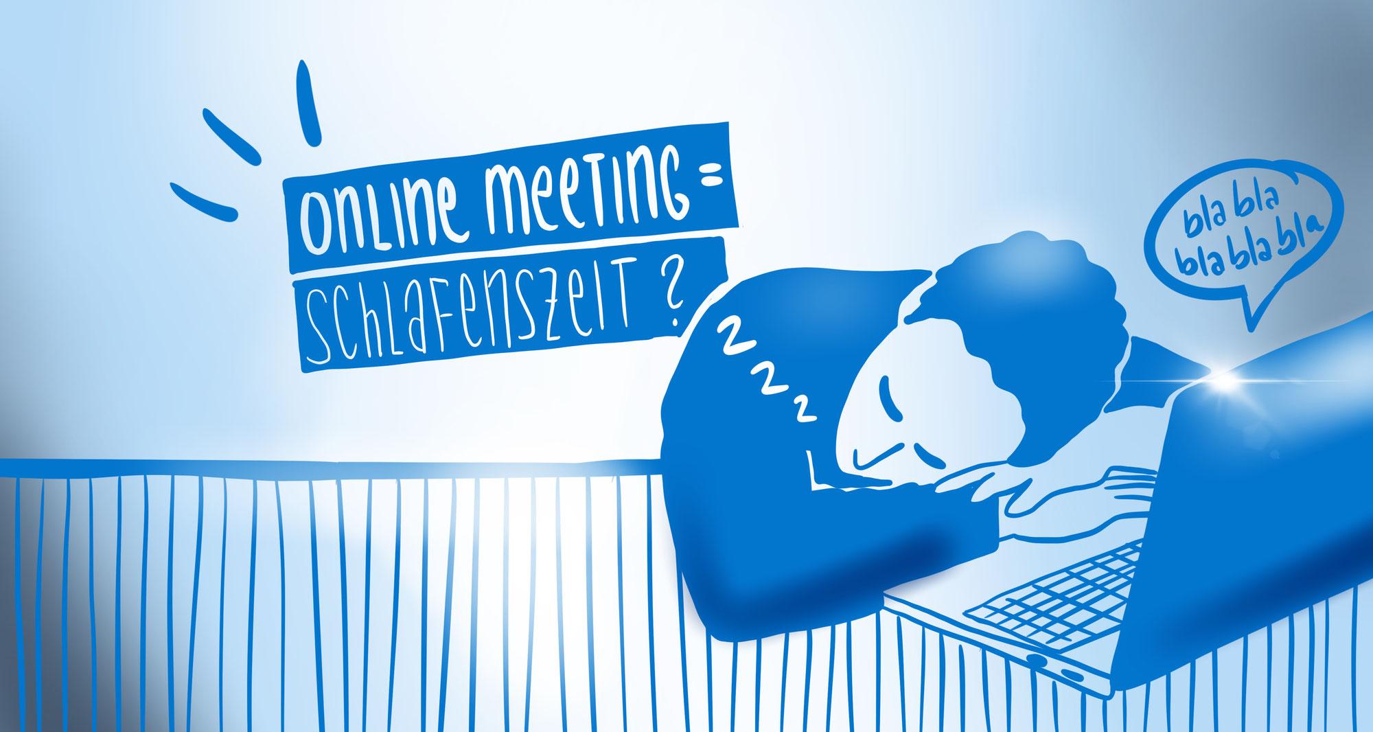 HALLO WACH! (Nicht Live-)Visualisierungen im Online Meeting.