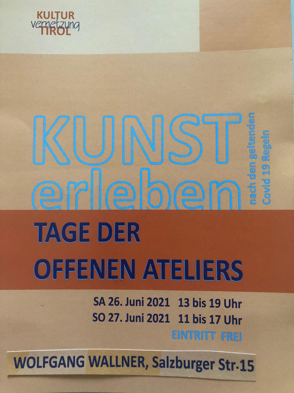 "Tiroler ""Tage der Offenen Ateliers"" am 26./27.06.21"