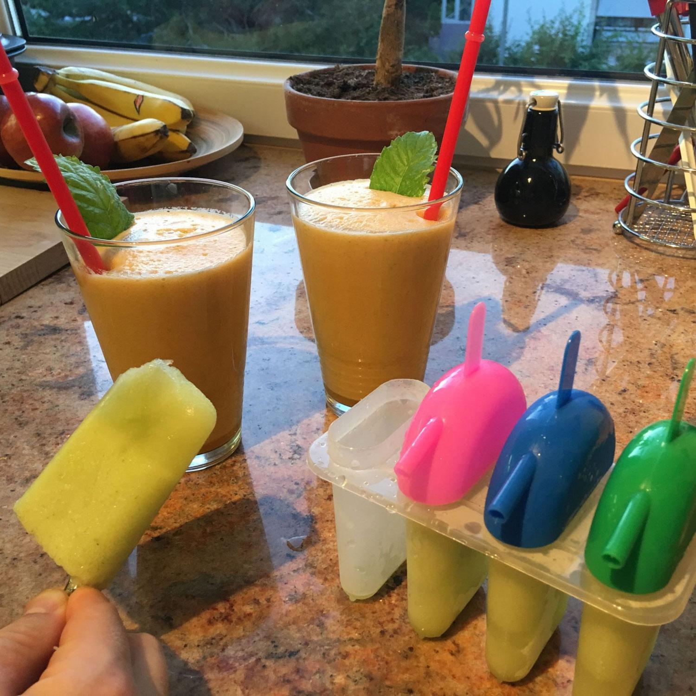 Melone-Honig-Eis