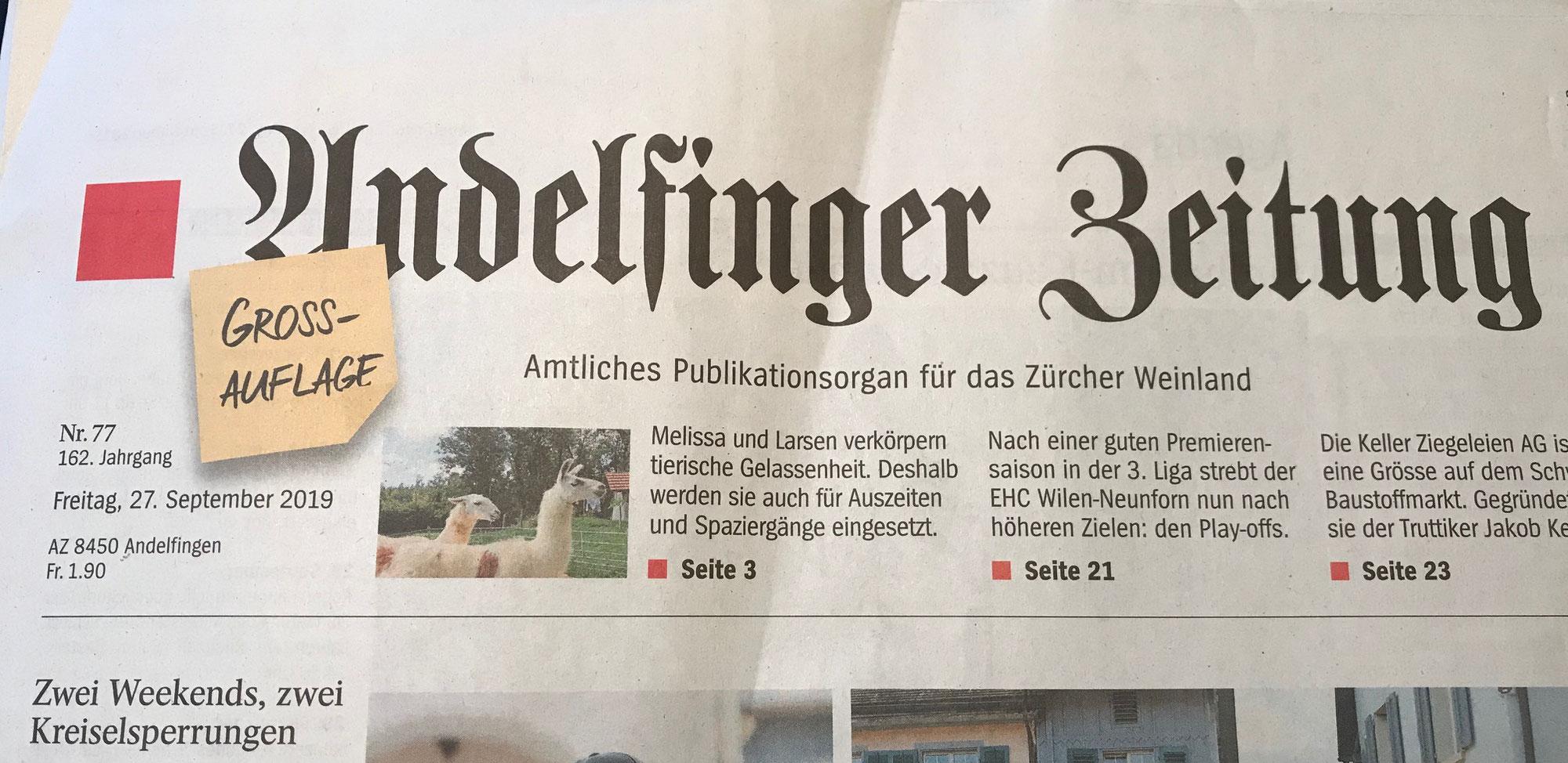 Wyland Usziit. in der regionalen Presse