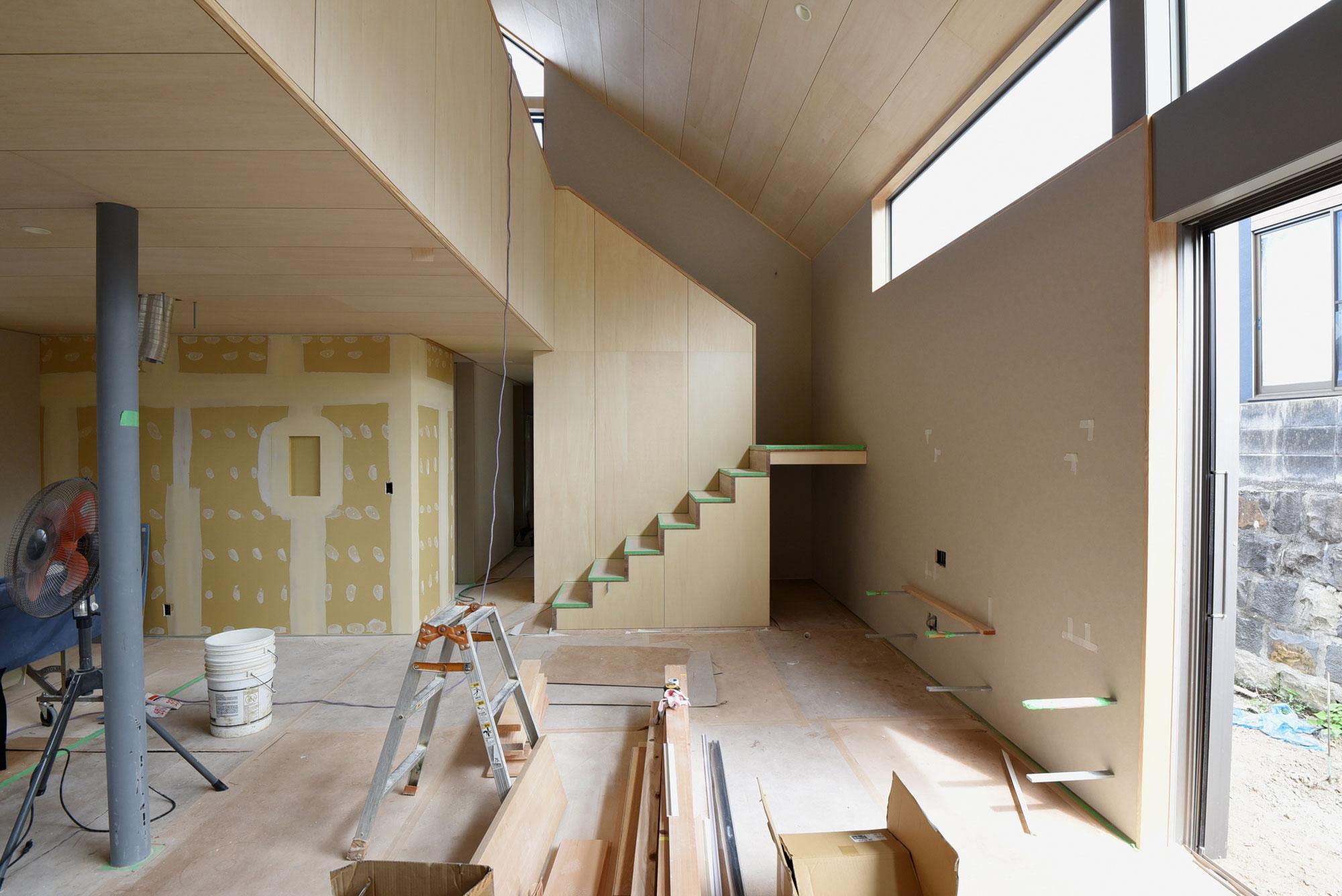 清水本町の家 内装工事