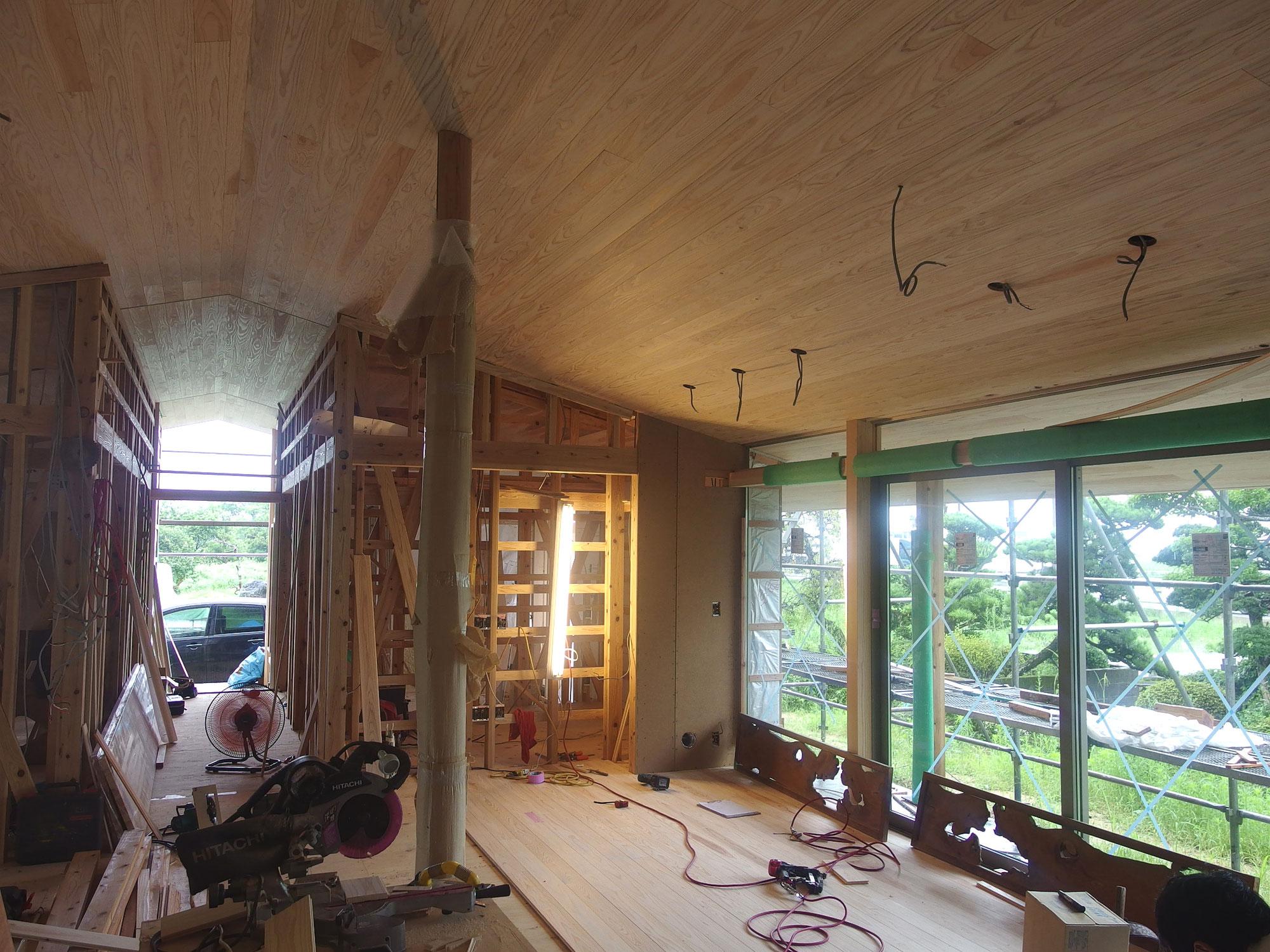 みやきの家 天井貼