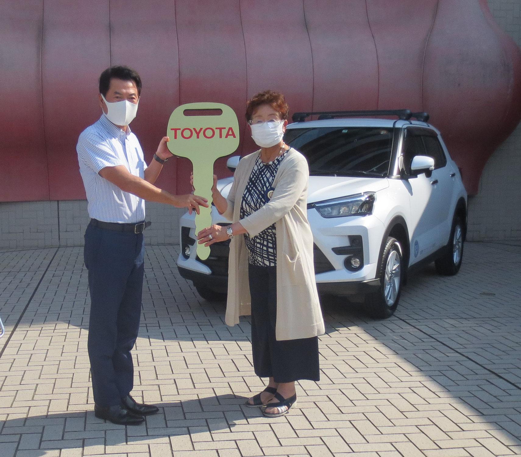 認証50周年記念事業「宇都宮市に災害時併用車贈呈式」
