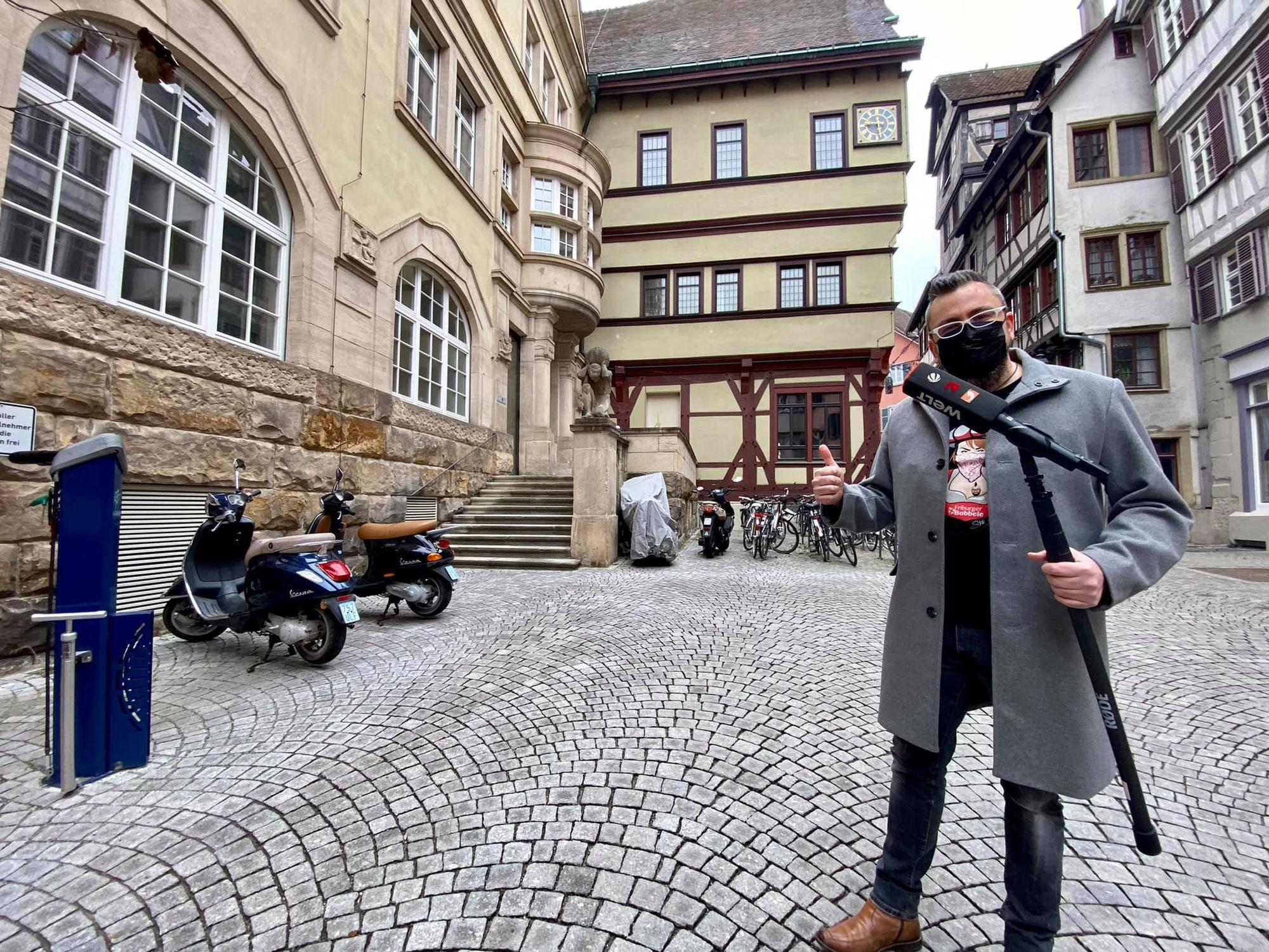 Ich durfte für Welt N24 über den Corona Modellversuch aus Tübingen berichten