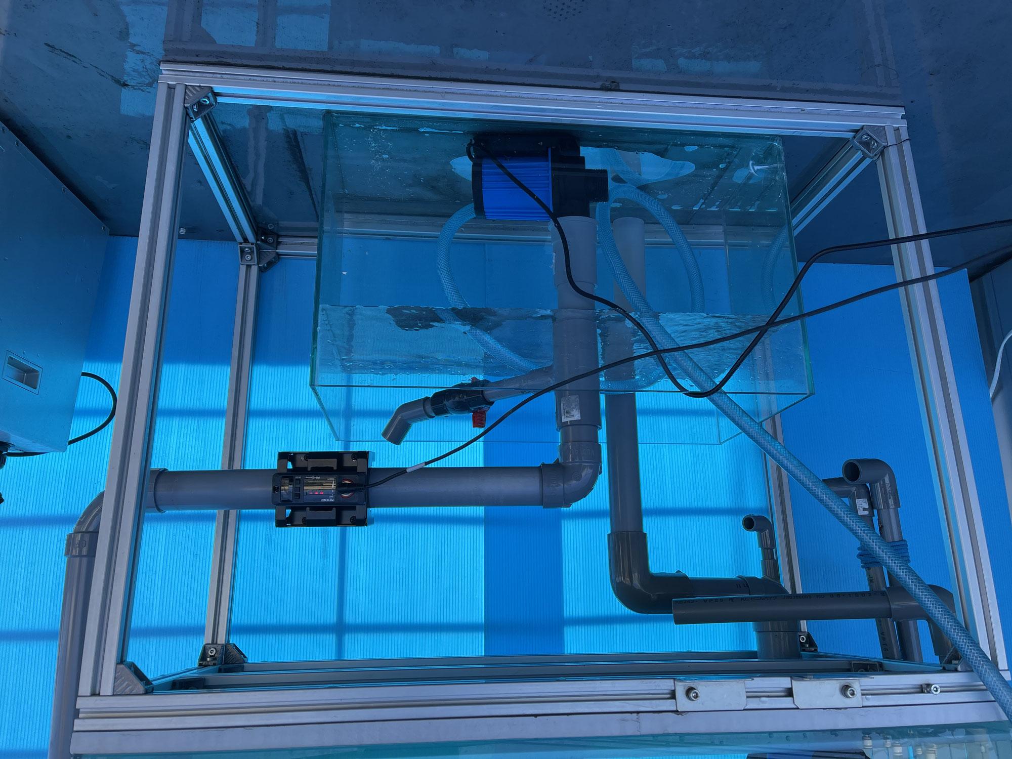アロワナ・古代魚飼育にお勧めの超高流量ポンプ 流量測定