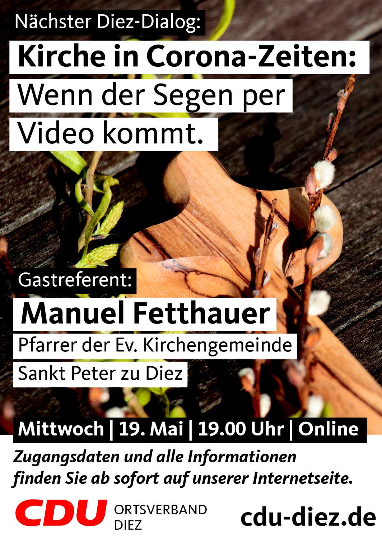 DIEZ-DIALOG: Kirche in Corona-Zeiten: Wenn der Segen per Video kommt.